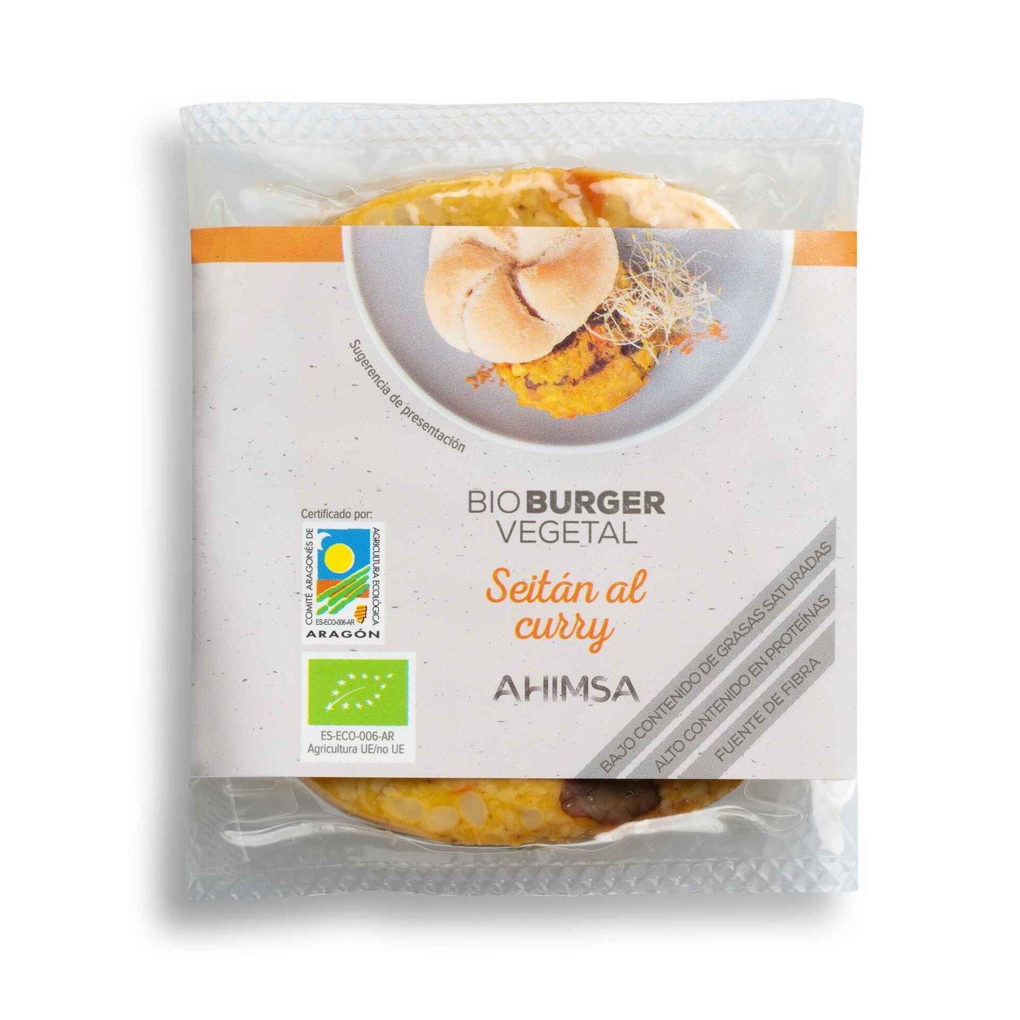 Burger Seitan e Caril Biológico