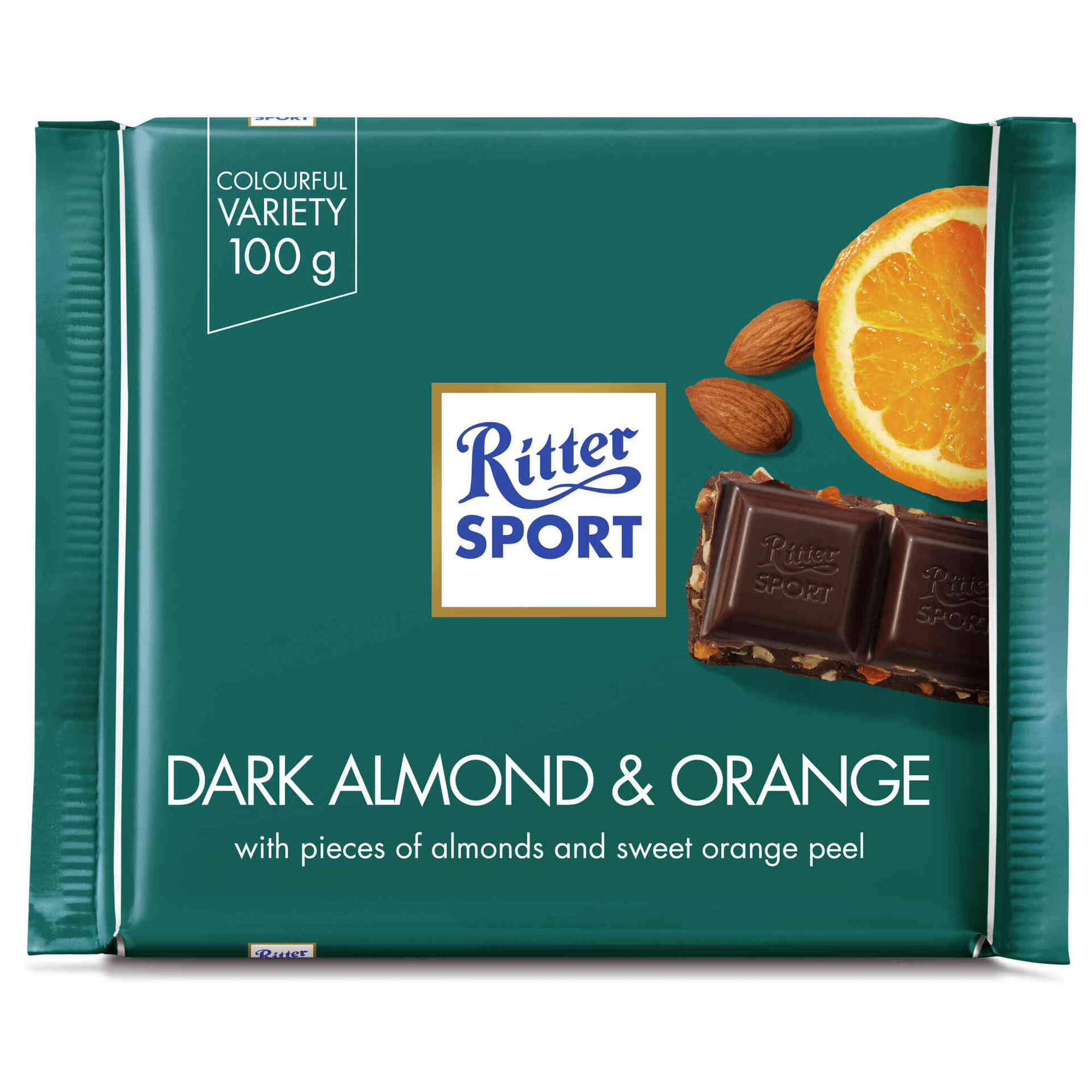 Tablete de Chocolate Negro com Laranja e Amêndoa