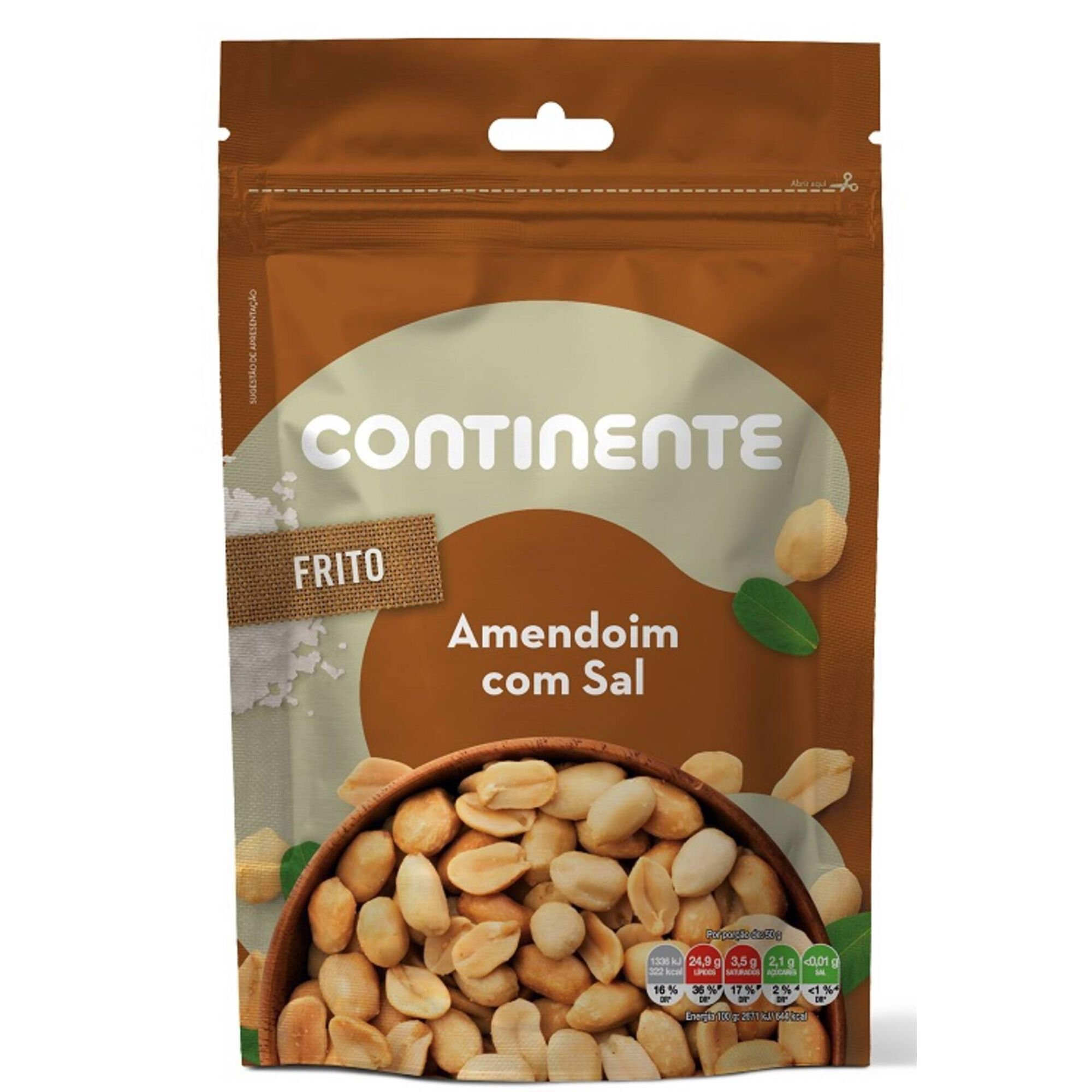 Snack Amendoim Miolo Frito com Sal