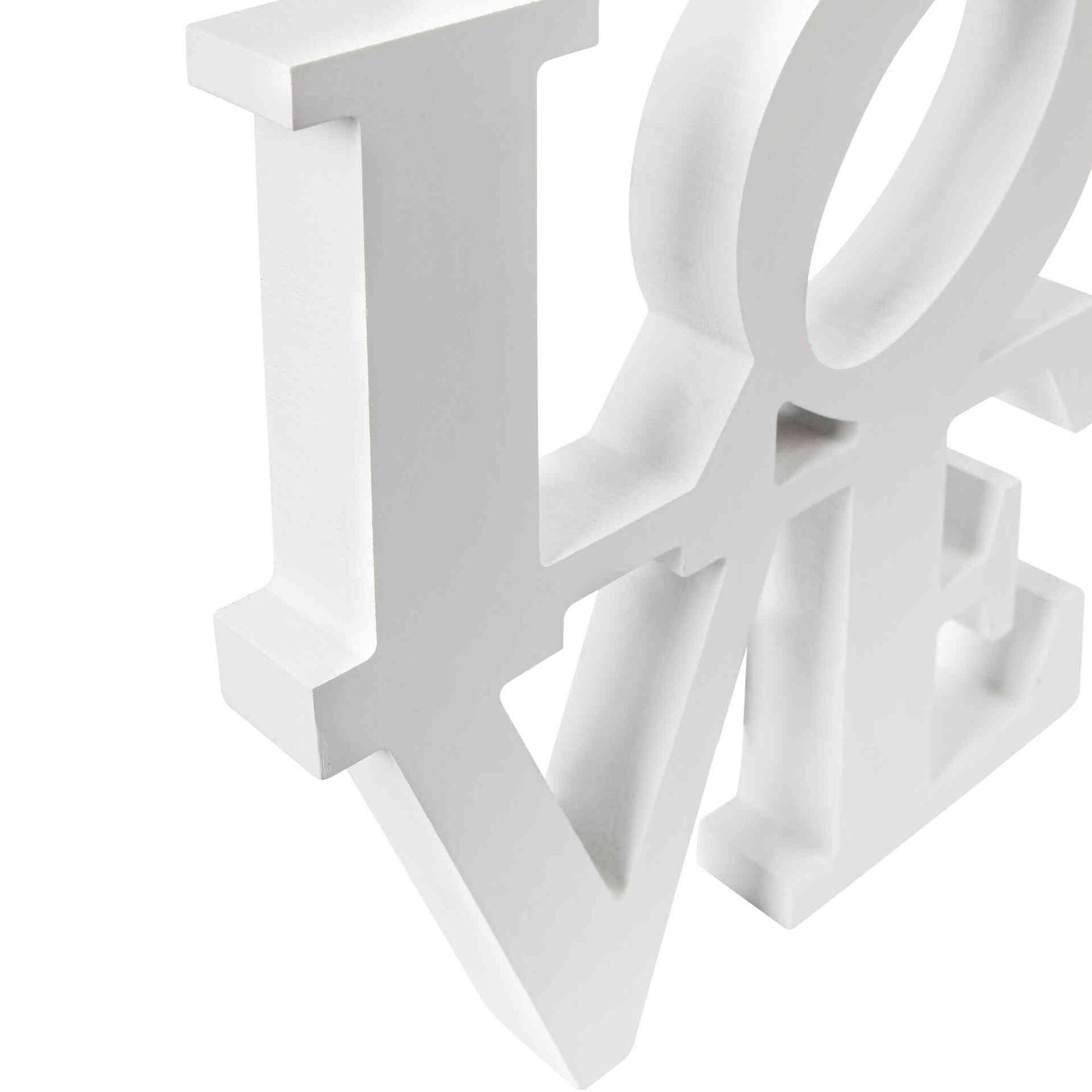 Letras Love Verticais Madeira 25x22cm Brancas
