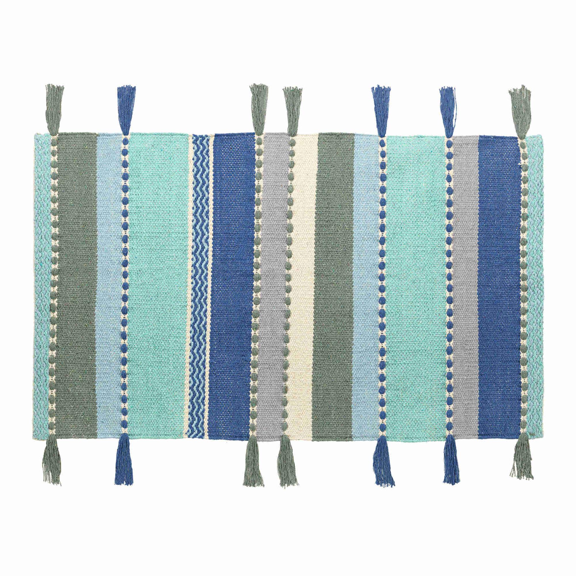 Tapete Franjas Algodão 60x90cm Riscas Coloridas (várias cores)