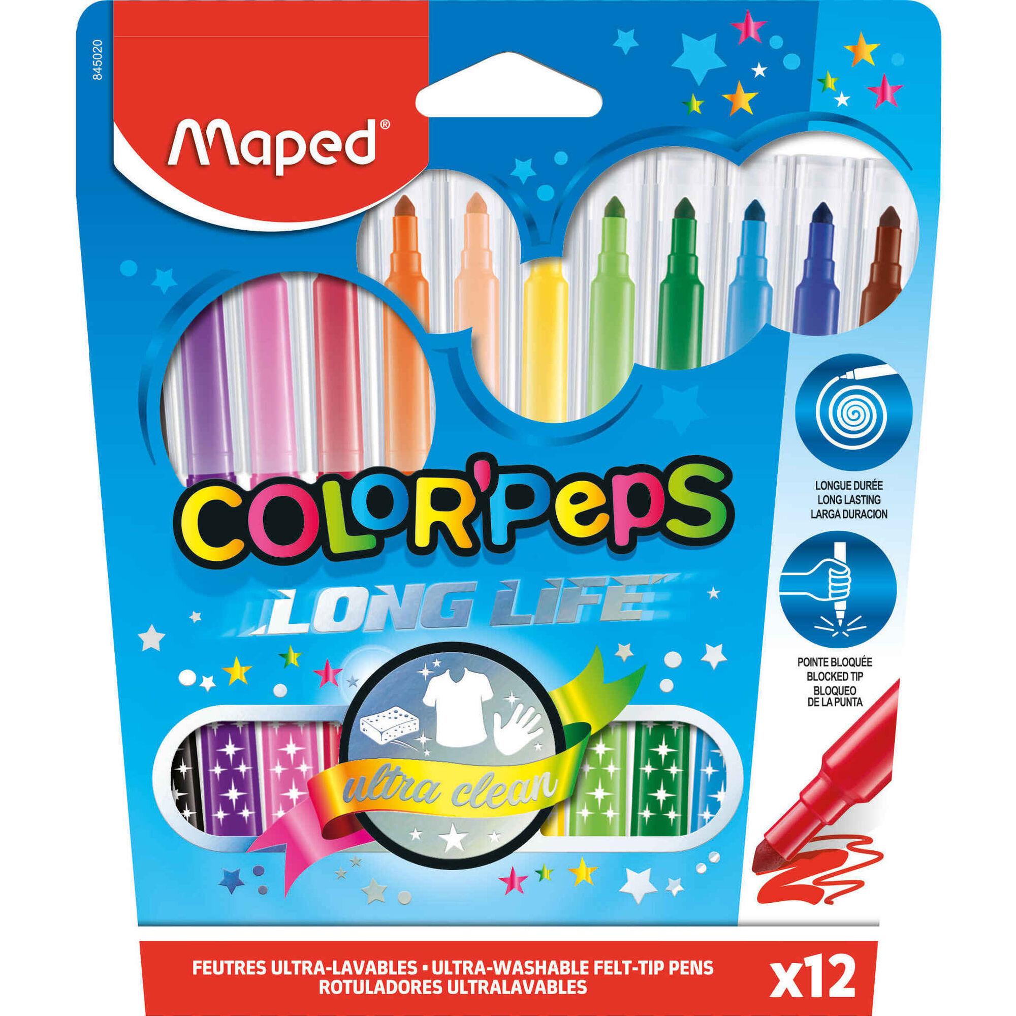 Marcadores de Colorir Lavável Color'Peps
