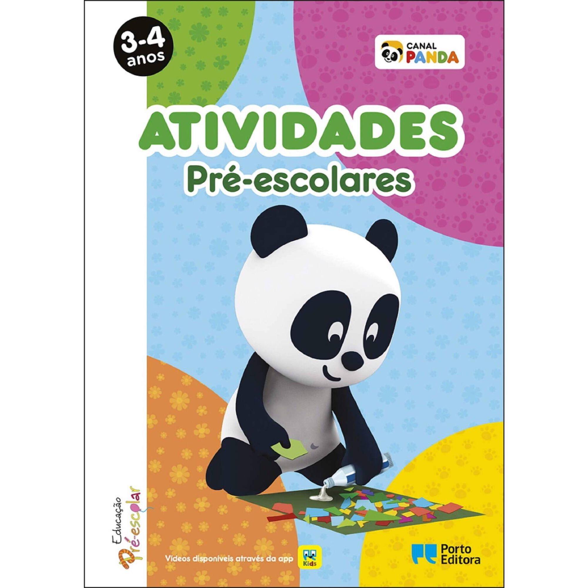 Atividades Pré-escolares Panda - 3-4 Anos