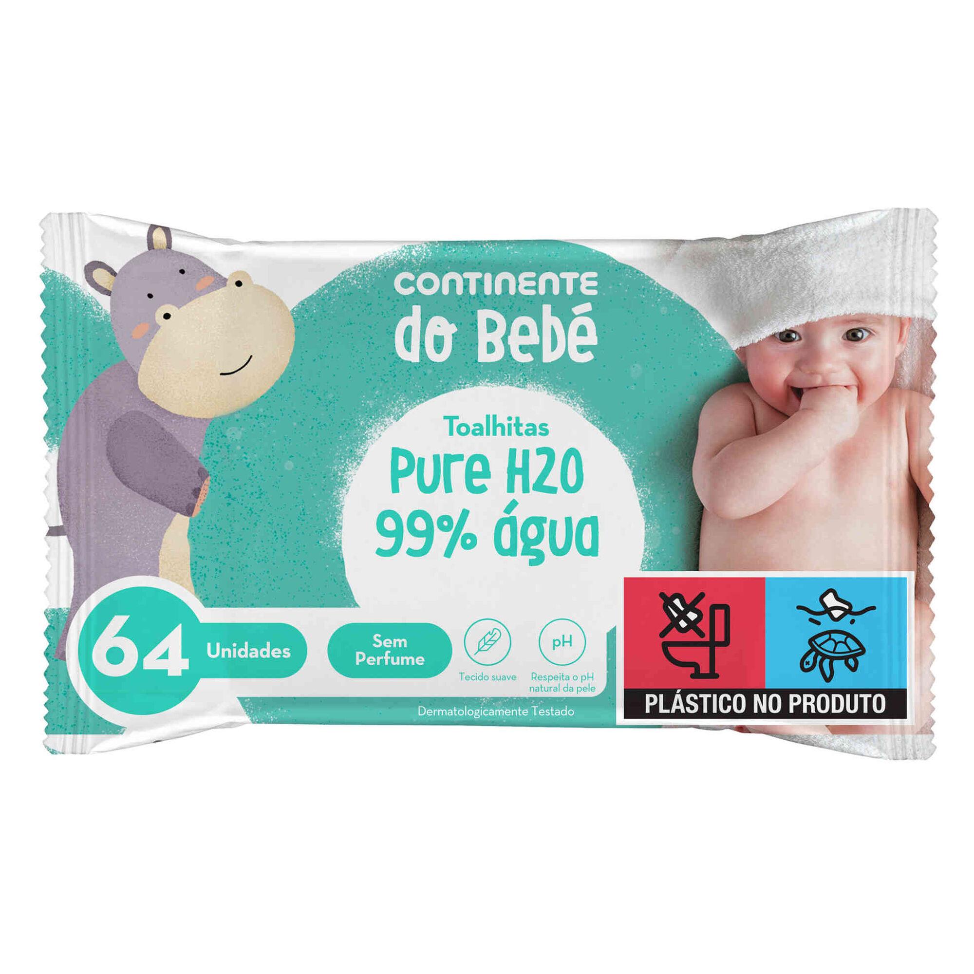 Toalhitas Bebé Pure H2O 99% Água