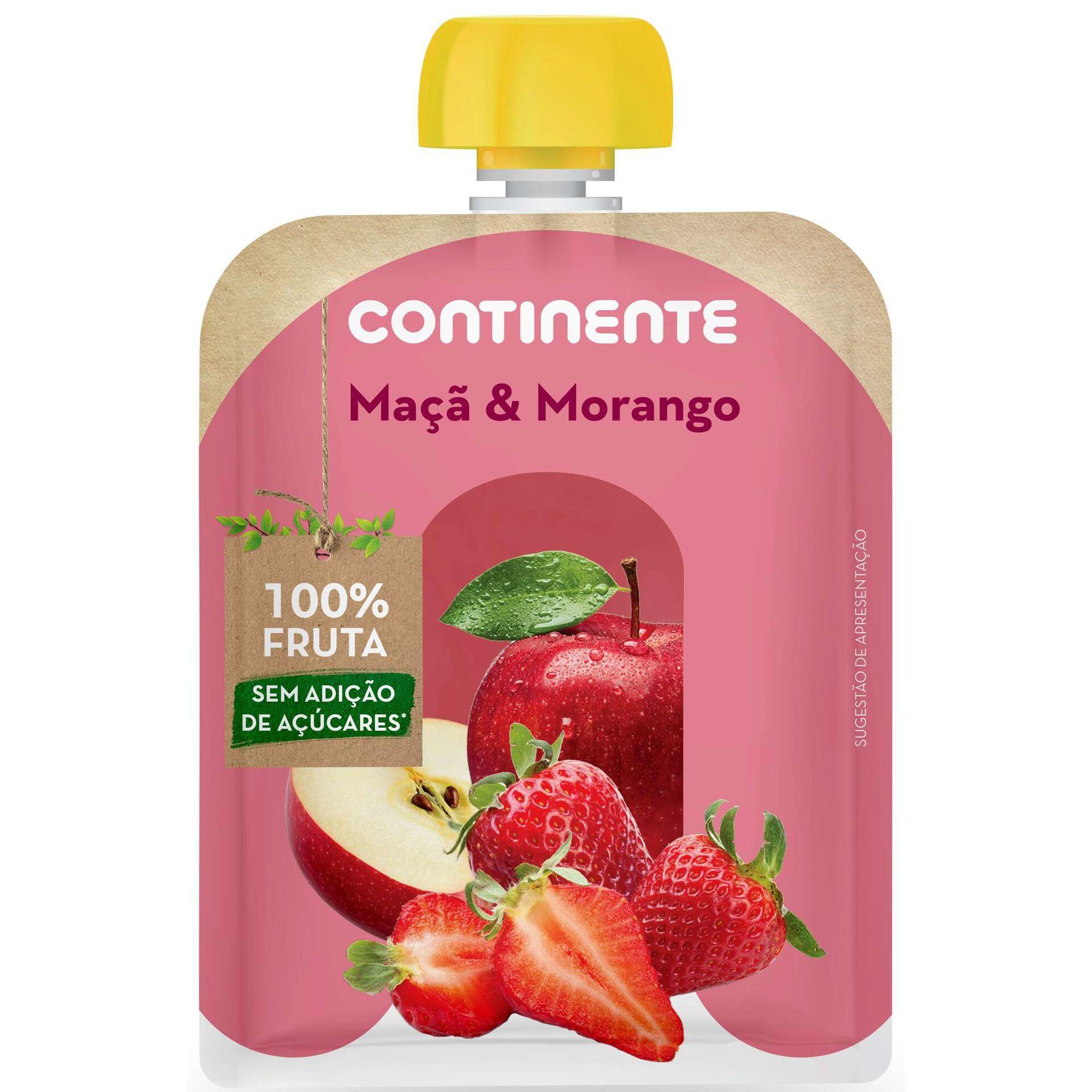 Saqueta de Fruta Maçã e Morango