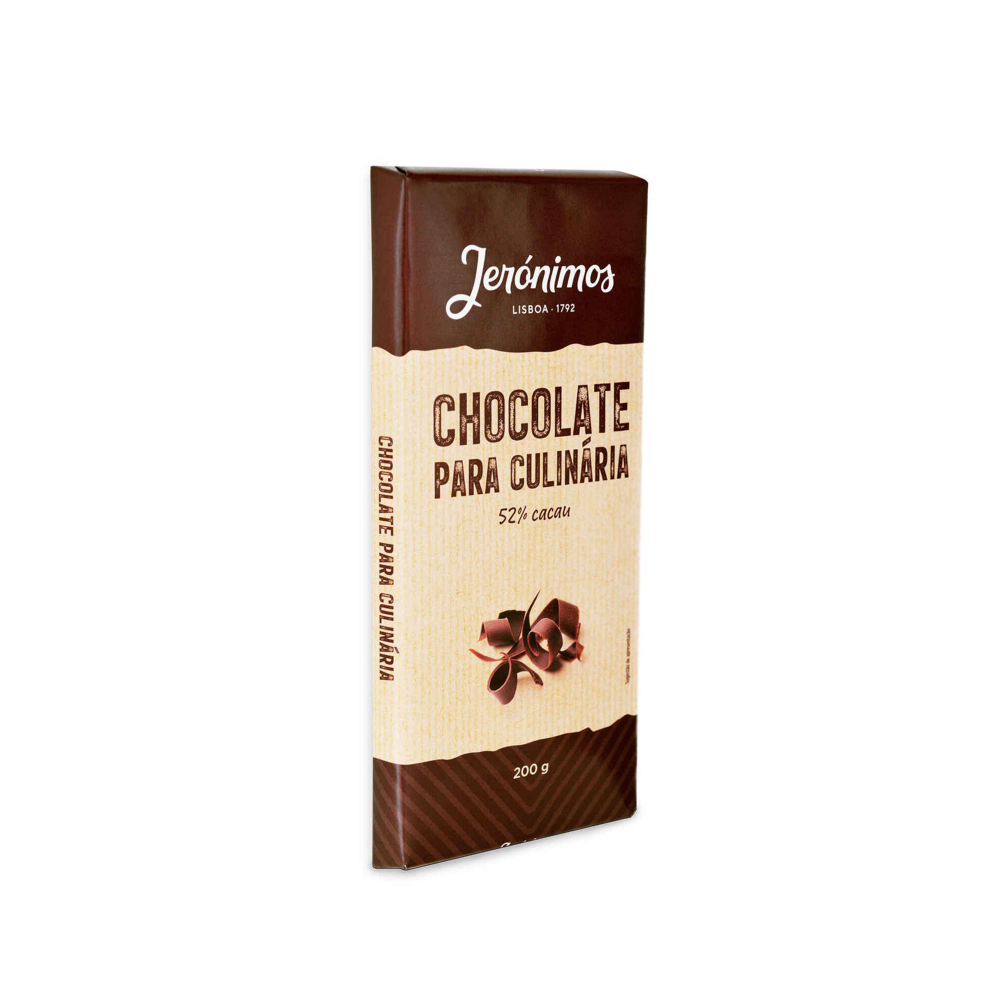 Tablete de Chocolate Culinária 52% Cacau