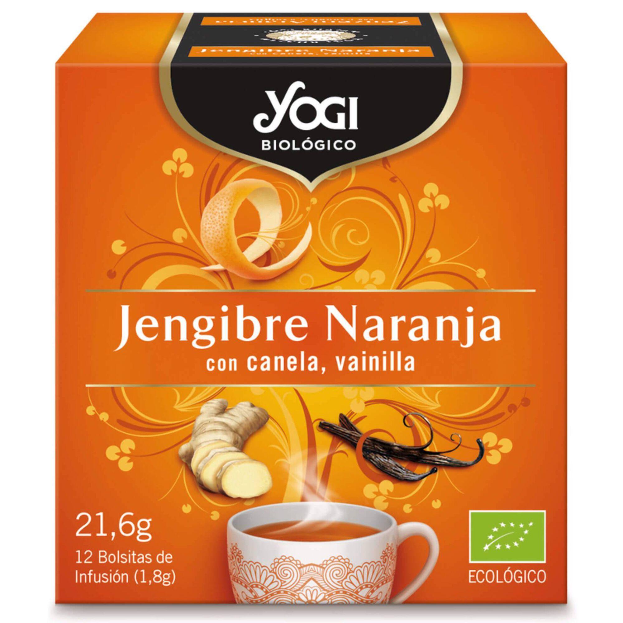 Chá Gengibre e Laranja Saquetas Biológico