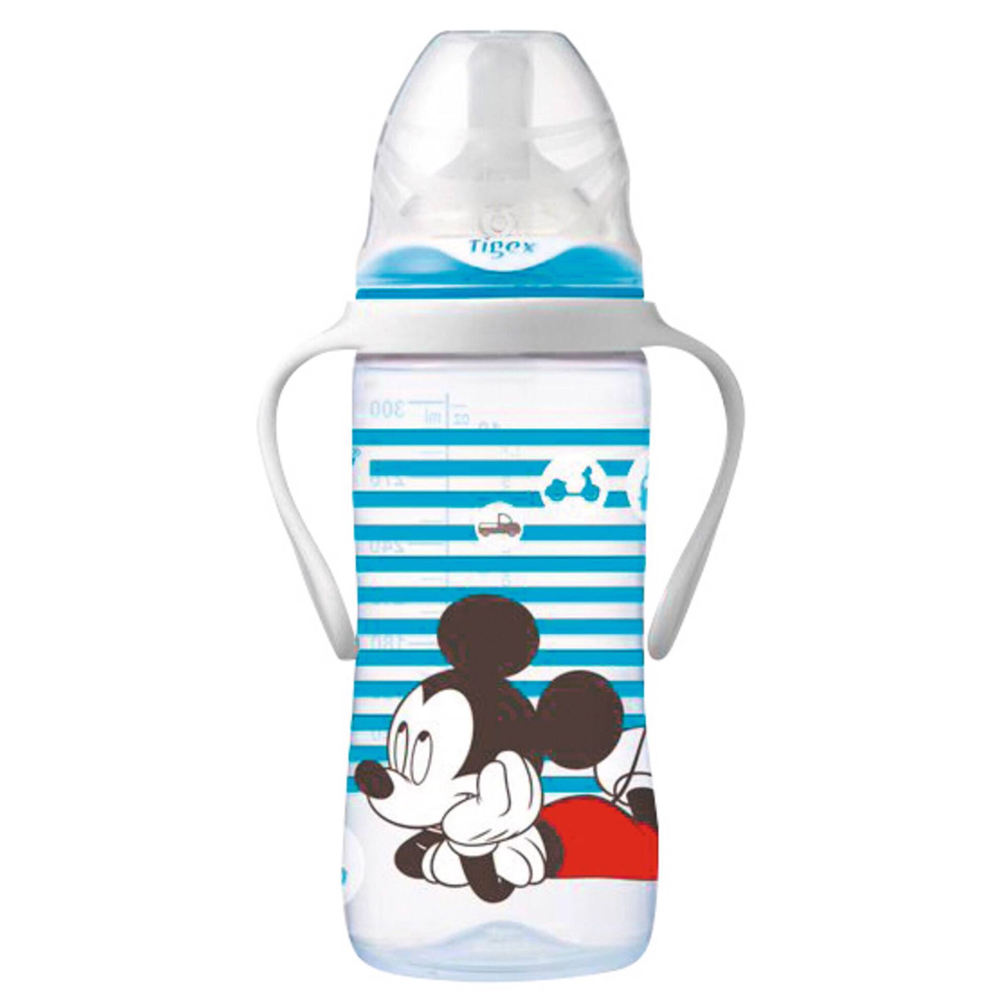 Biberão com Pegas 300ml Silicone Variável +6M Mickey