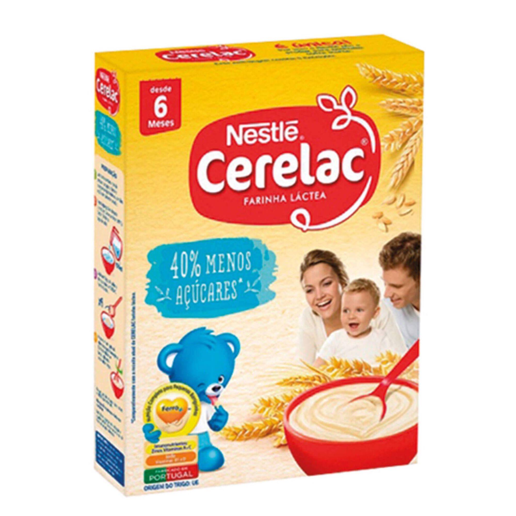 Papa Infantil Farinha Láctea com 40% Menos Açúcares +6 Meses