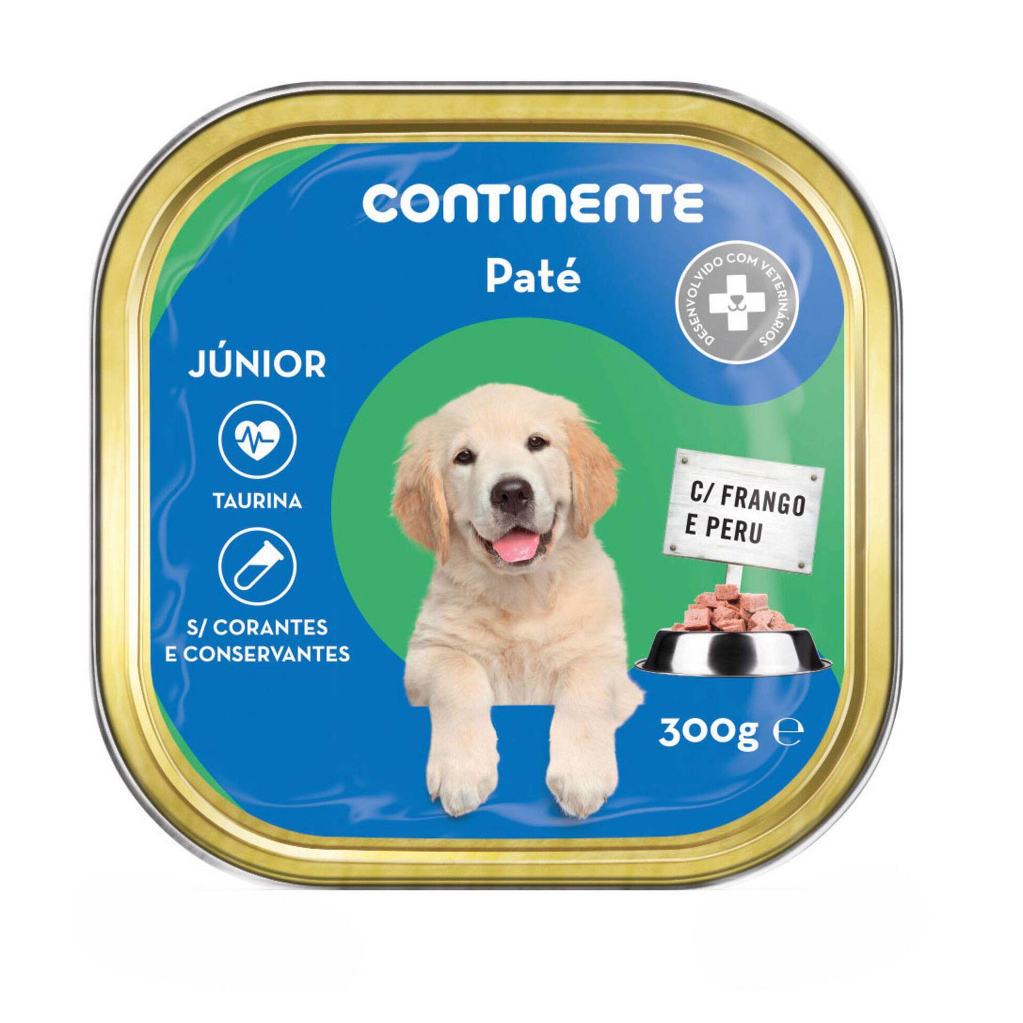Comida Húmida para Cão Júnior Patê Frango e Peru Terrina