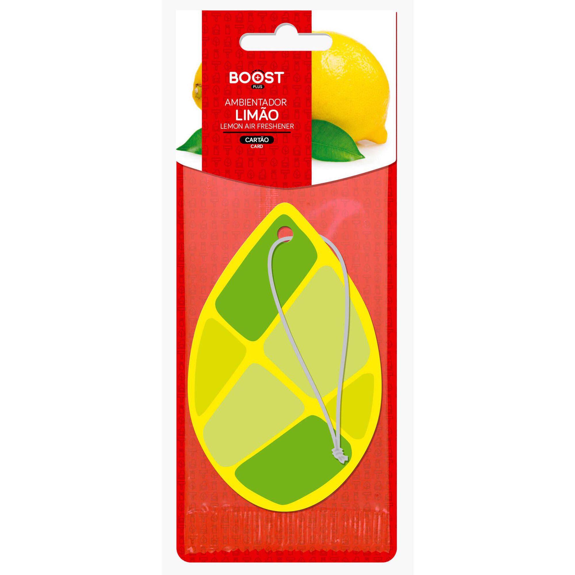 Ambientador Auto Pendurar Cartão Limão