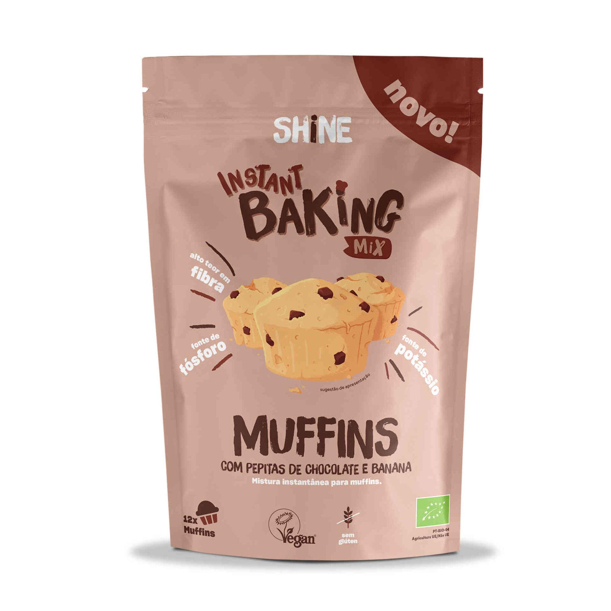 Mistura para Muffins Mix Pepitas de Chocolate e Banana sem Glúten