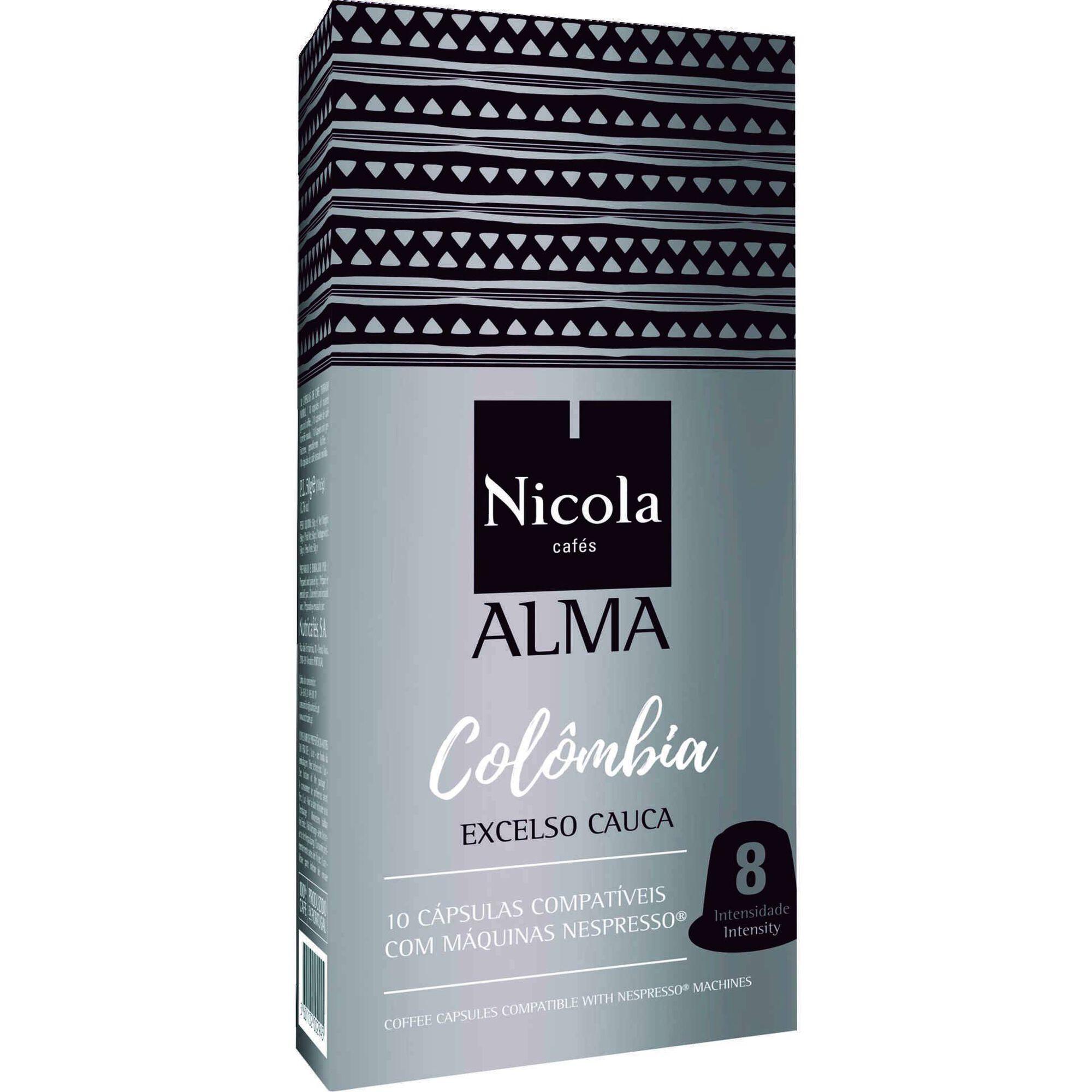 Cápsulas de Café Alma Colômbia Compatível com Nespresso Int 8