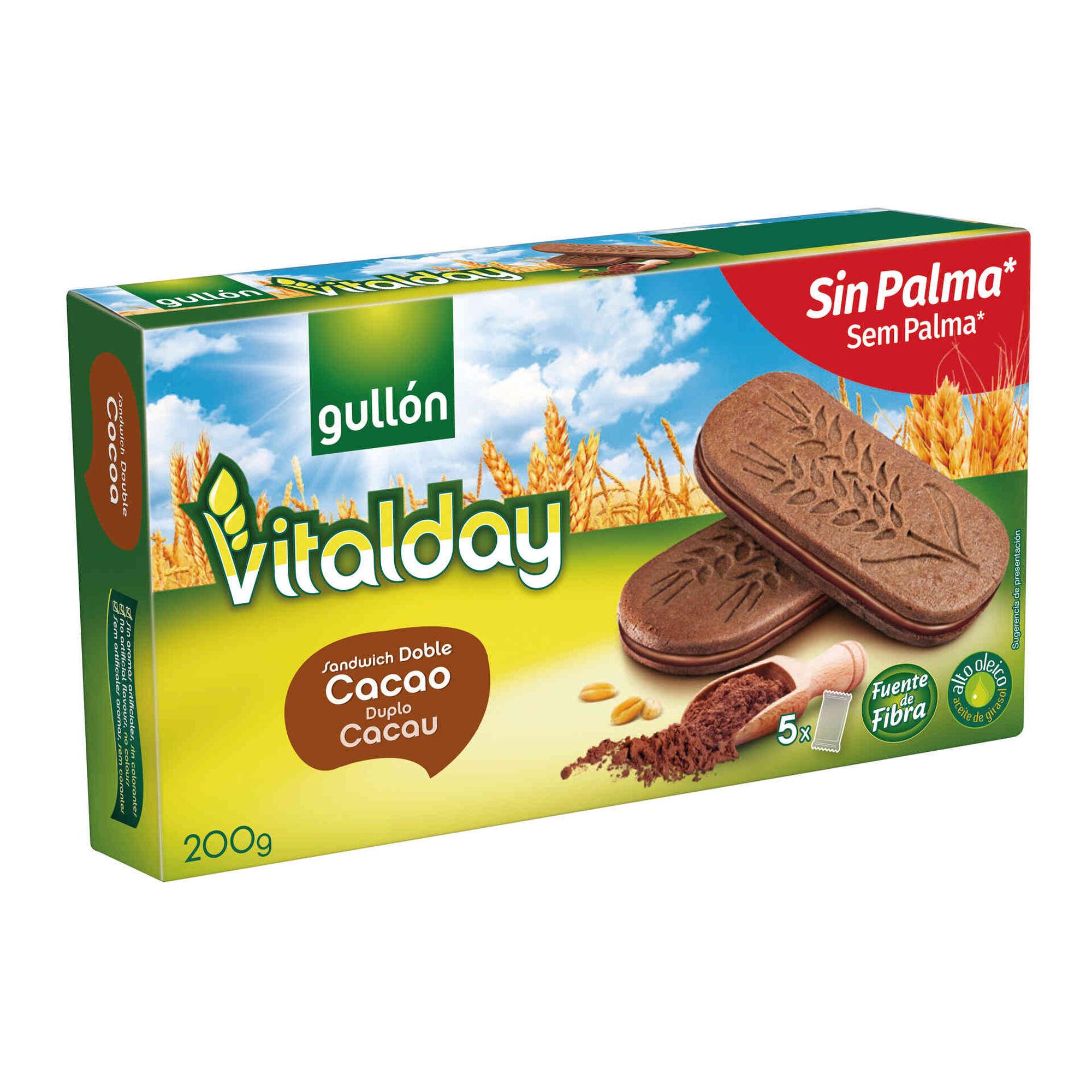 Bolachas Vitalday Recheadas Duplo Cacau