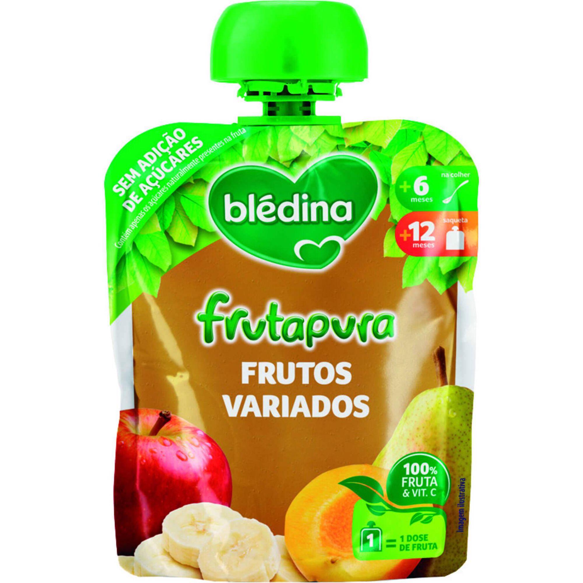 Saqueta de Frutos Variados Frutapura +6 Meses