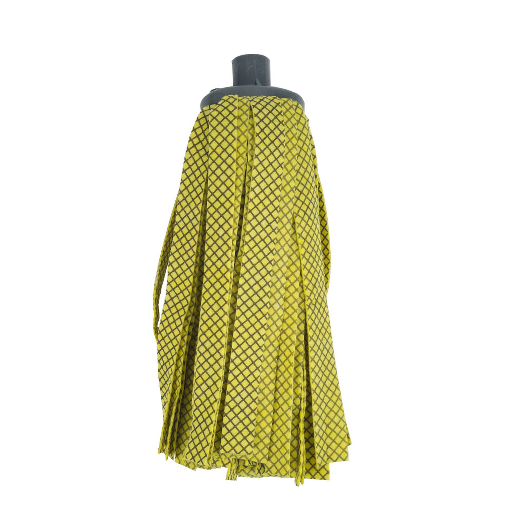 Recarga Esfregona Tiras Microfibra Amarelas Premium Perfect