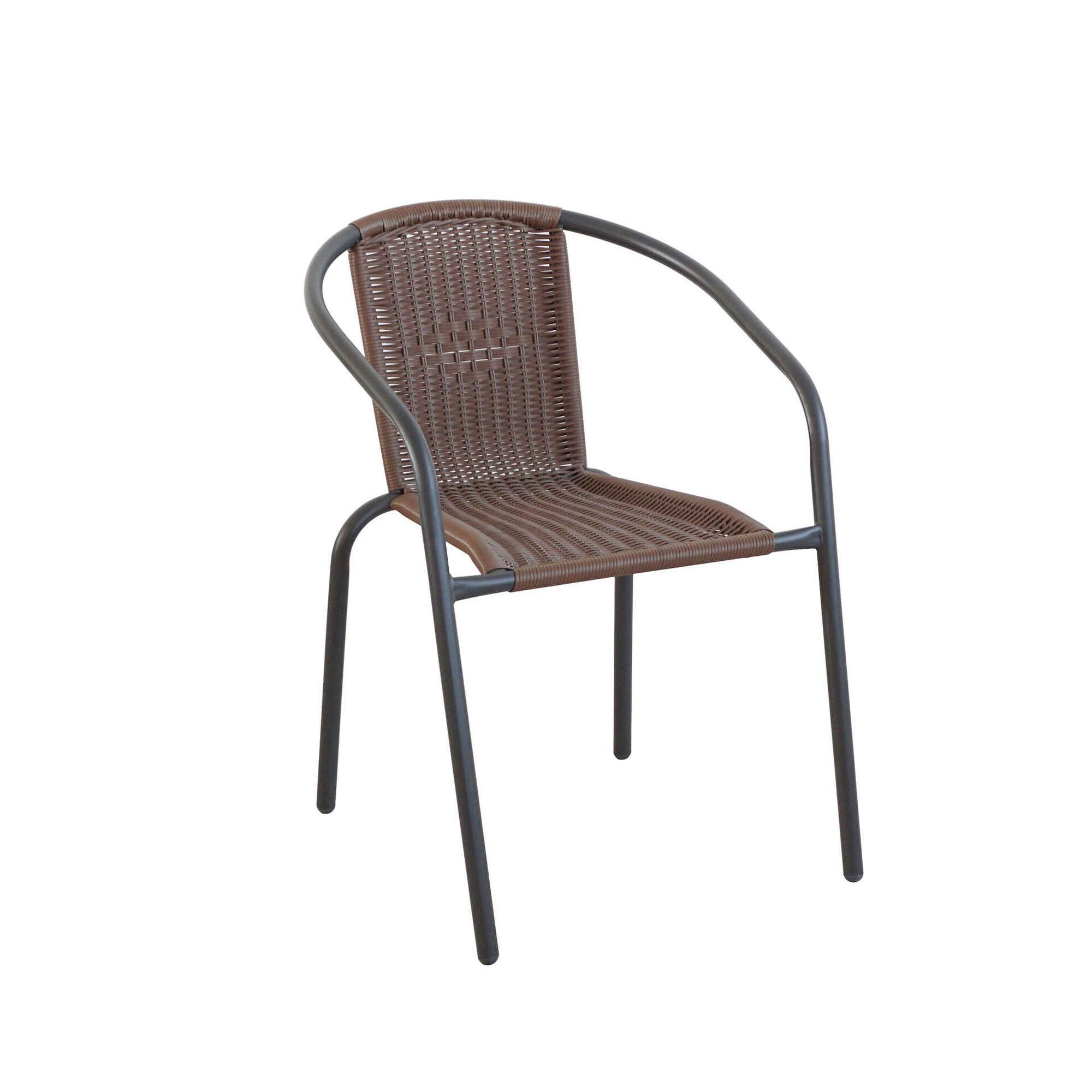 Cadeira de Rattan Castanha Osaka