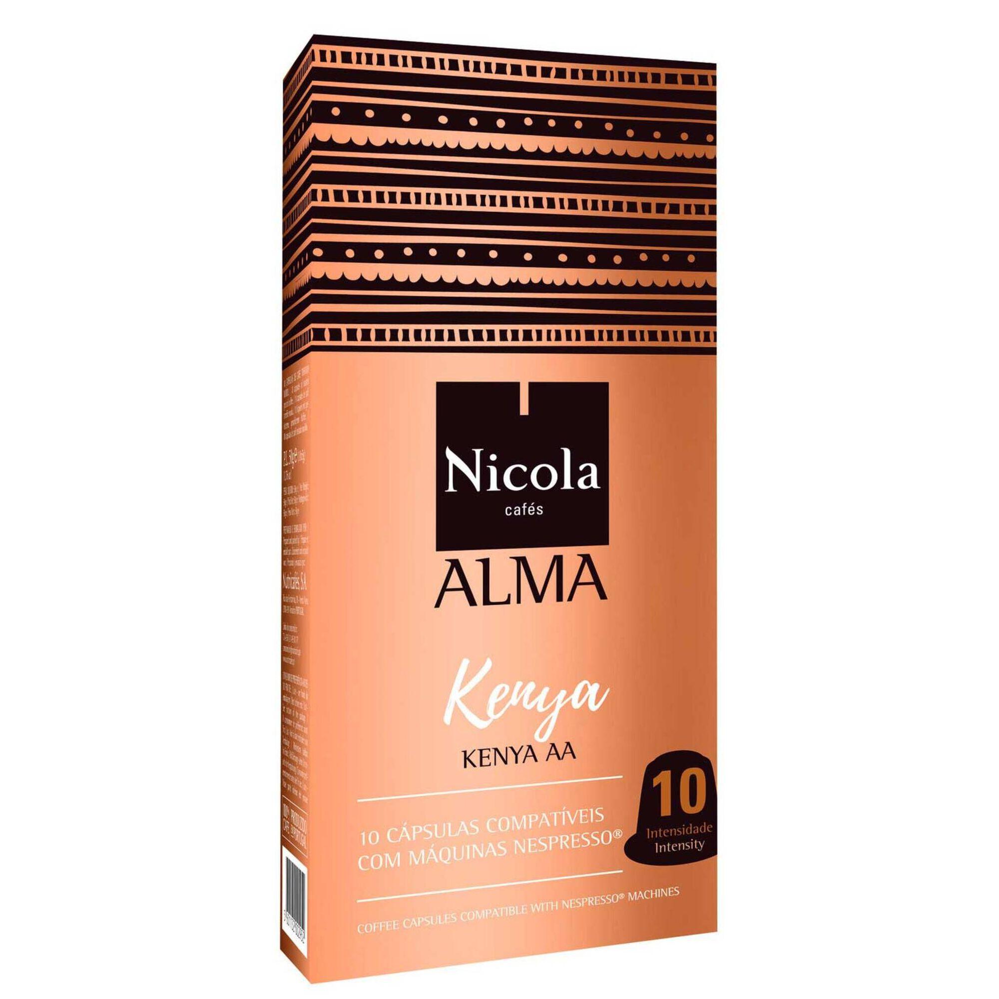 Cápsulas de Café Alma Quénia Compatível com Nespresso Int 10