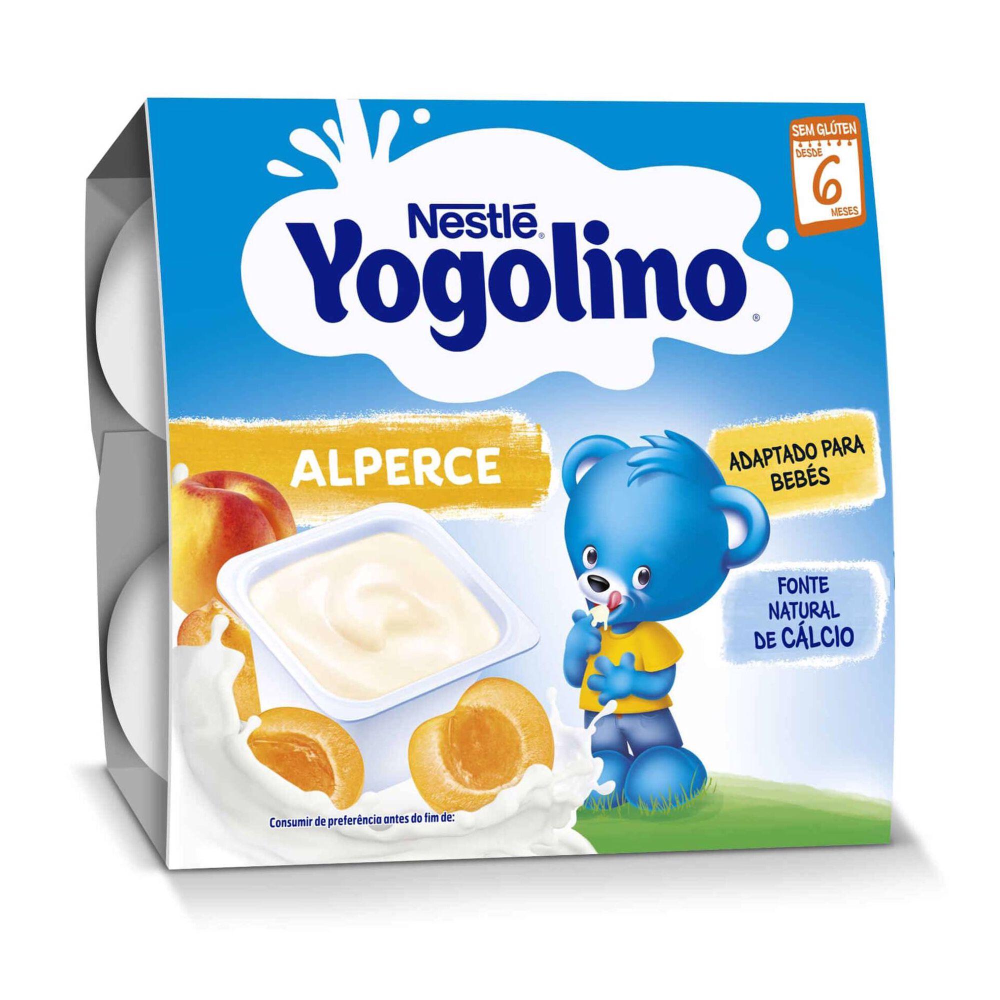 Alimento Lácteo de Alperce Yogolino sem Glúten +6 Meses