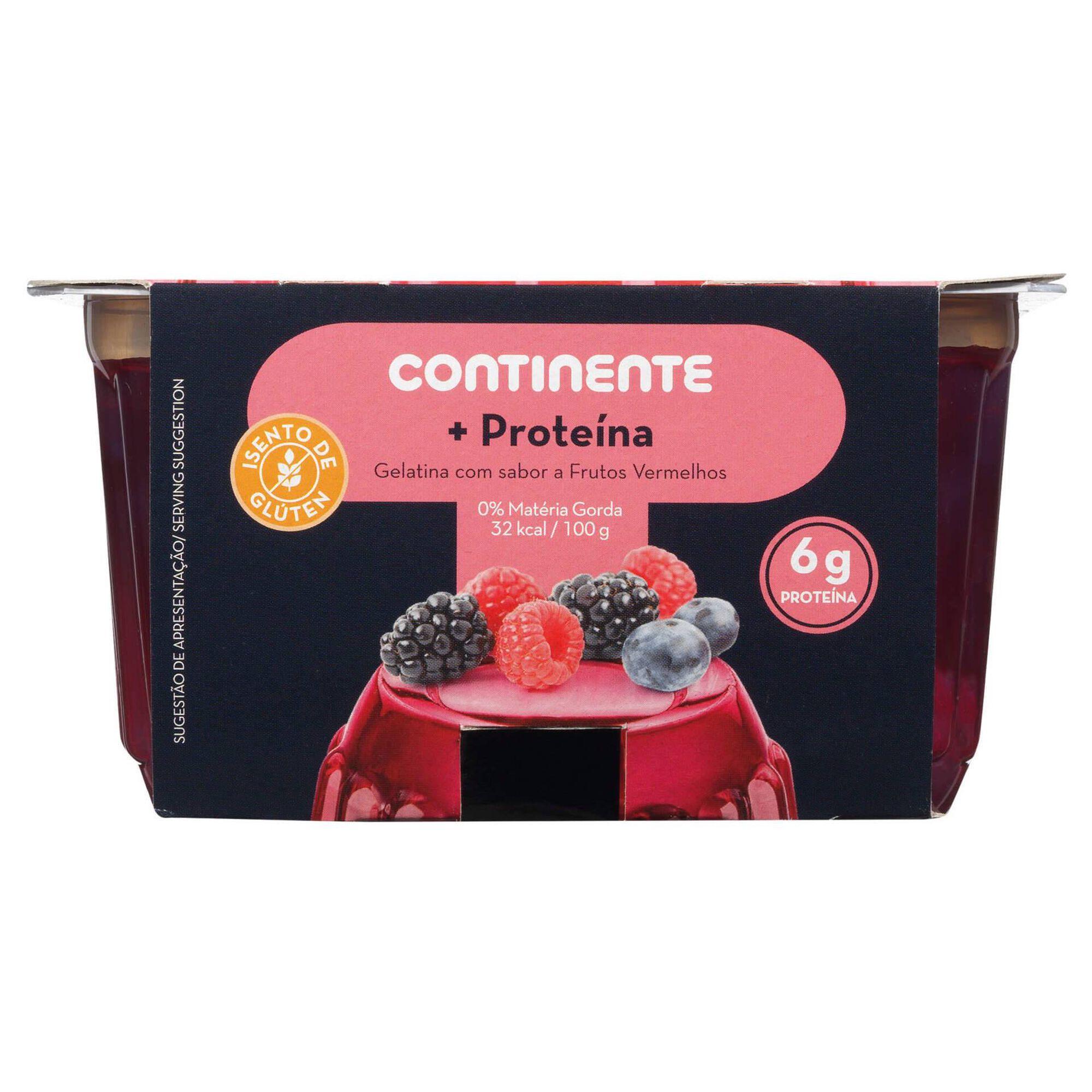 Gelatina Frutos Vermelhos +Proteína