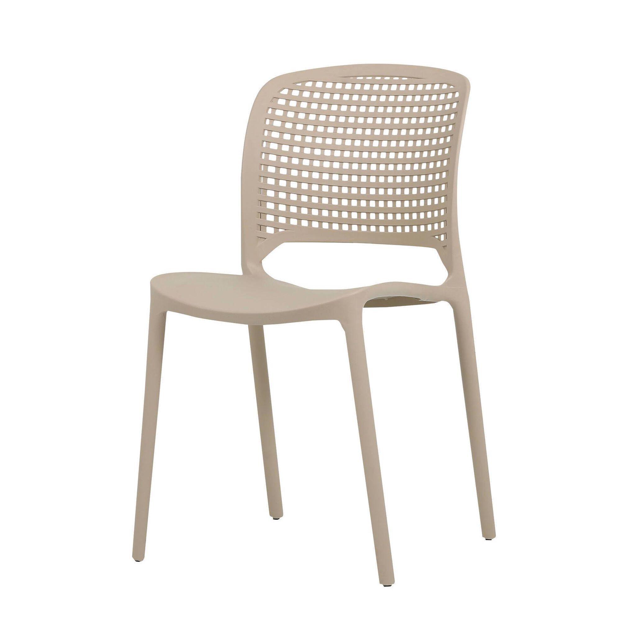 Cadeira de Resina Bege Montana Squares