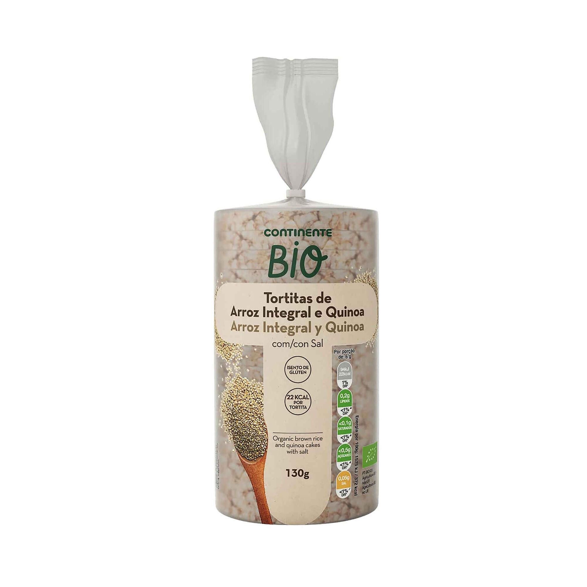 Tortitas de Arroz Integral e Quinoa Biológicas