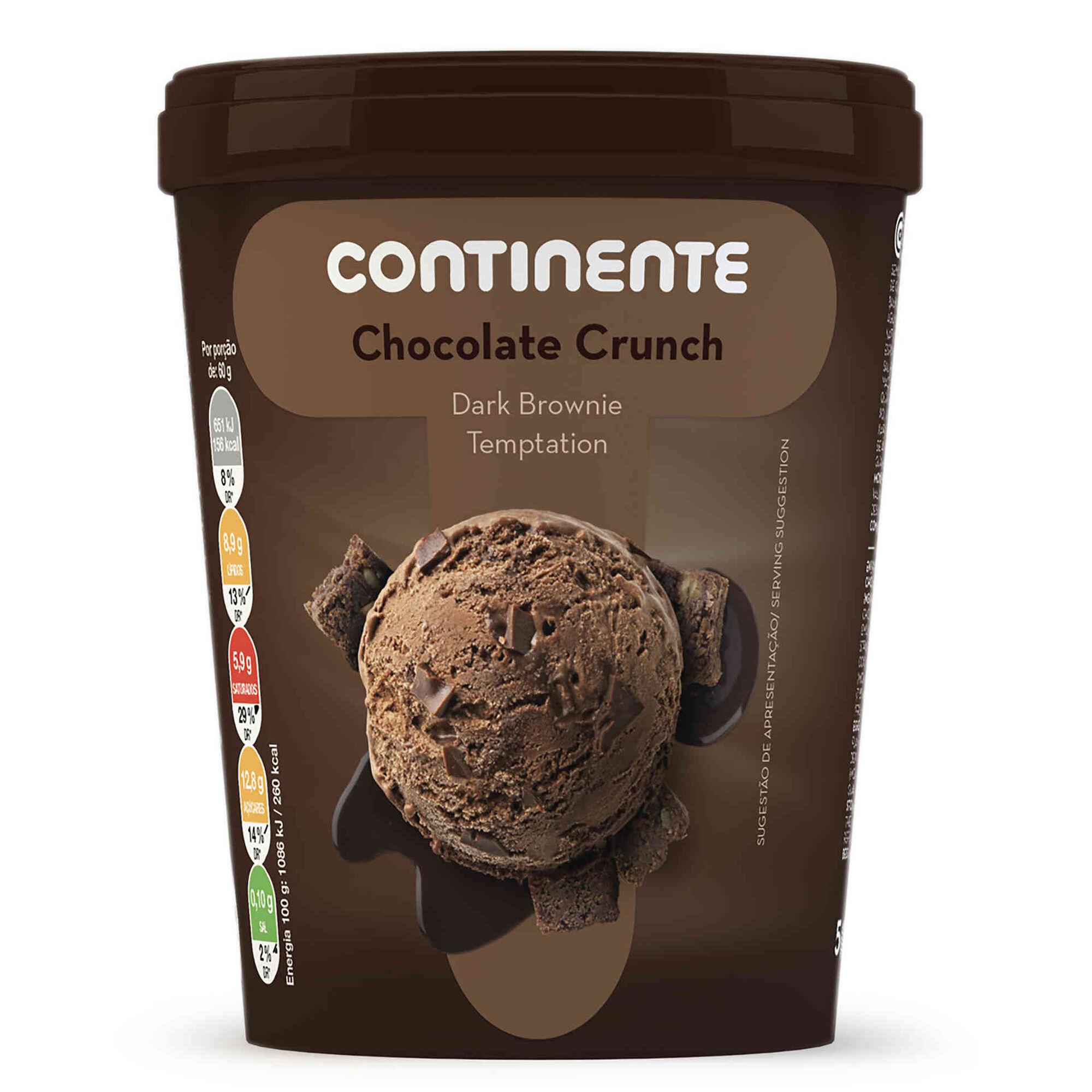 Gelado Chocolate Crunch Dark Brownie Temptation