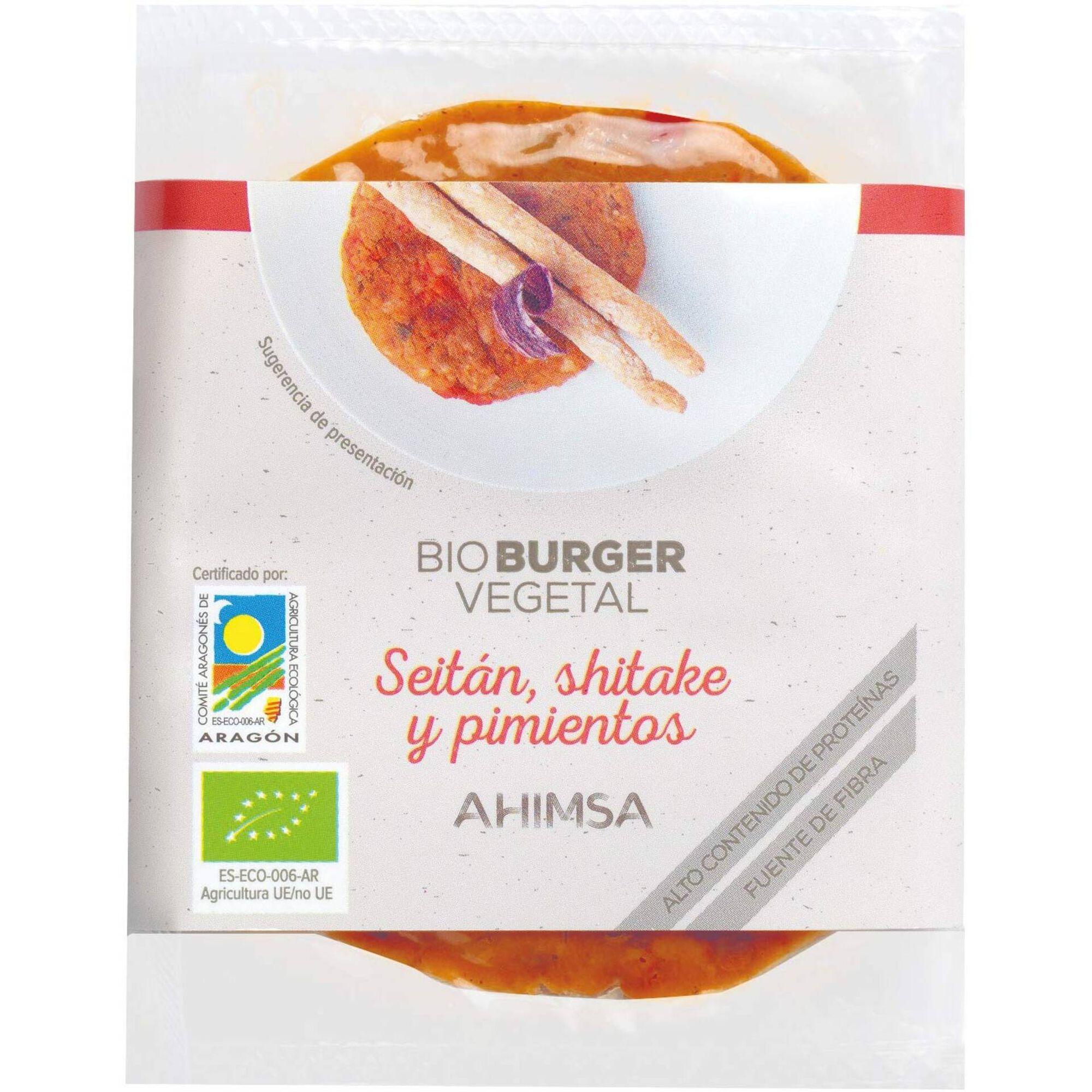 Burger Seitan, Cogumelos Shitake e Pimentos Biológico