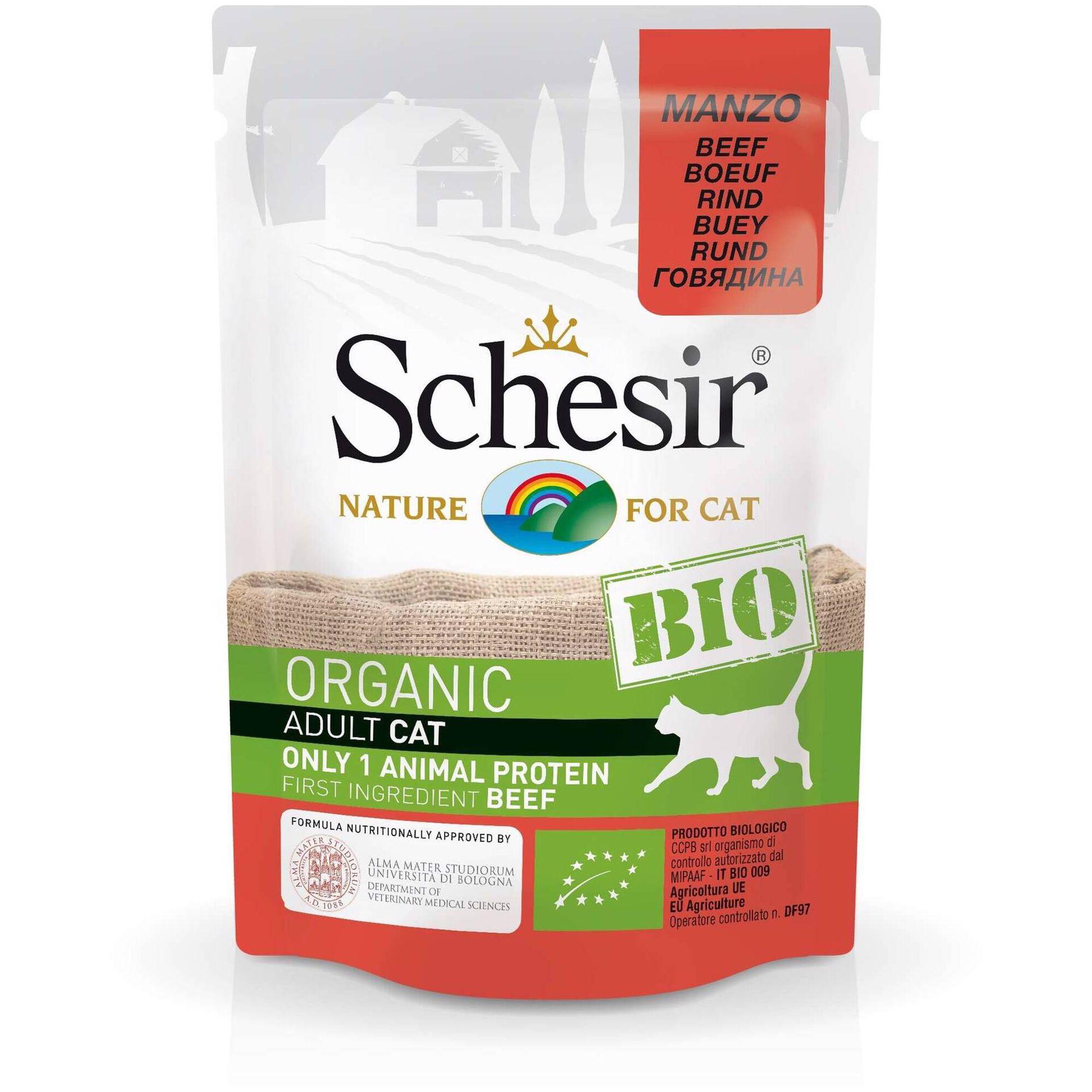 Comida Húmida para Gato Bio Carne Saquetas