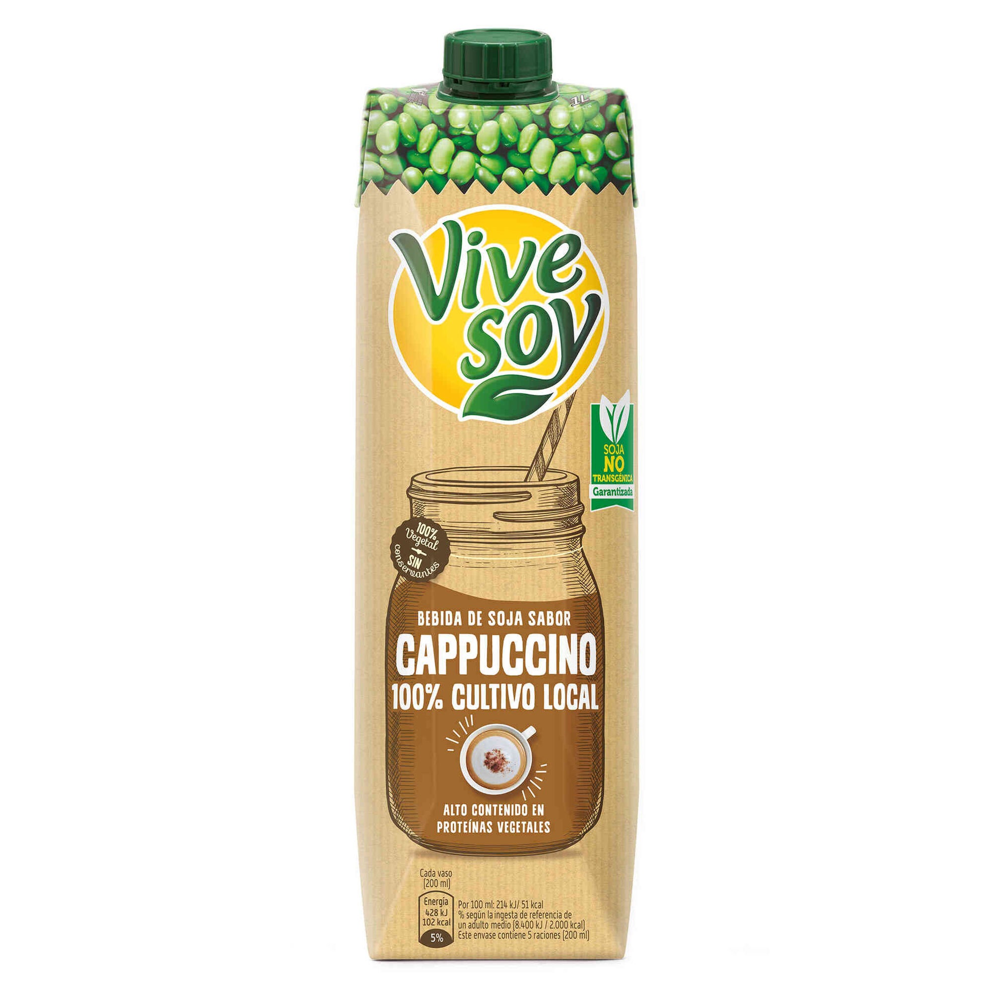Bebida Vegetal de Soja Vegetal Cappuccino