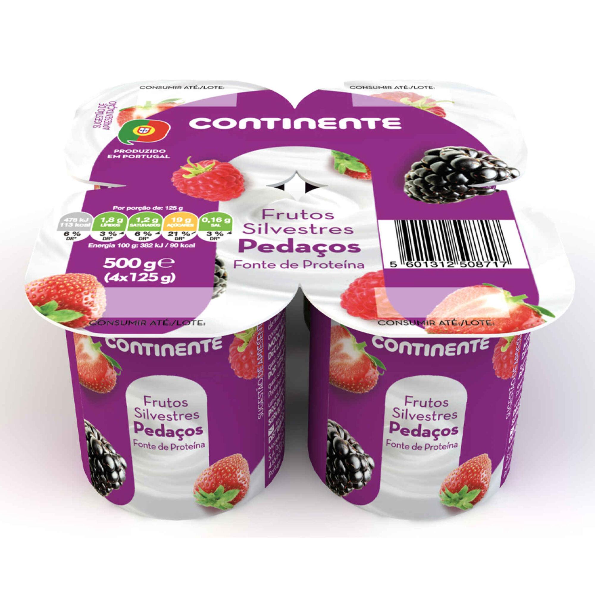 Iogurte Pedaços Frutos Silvestres