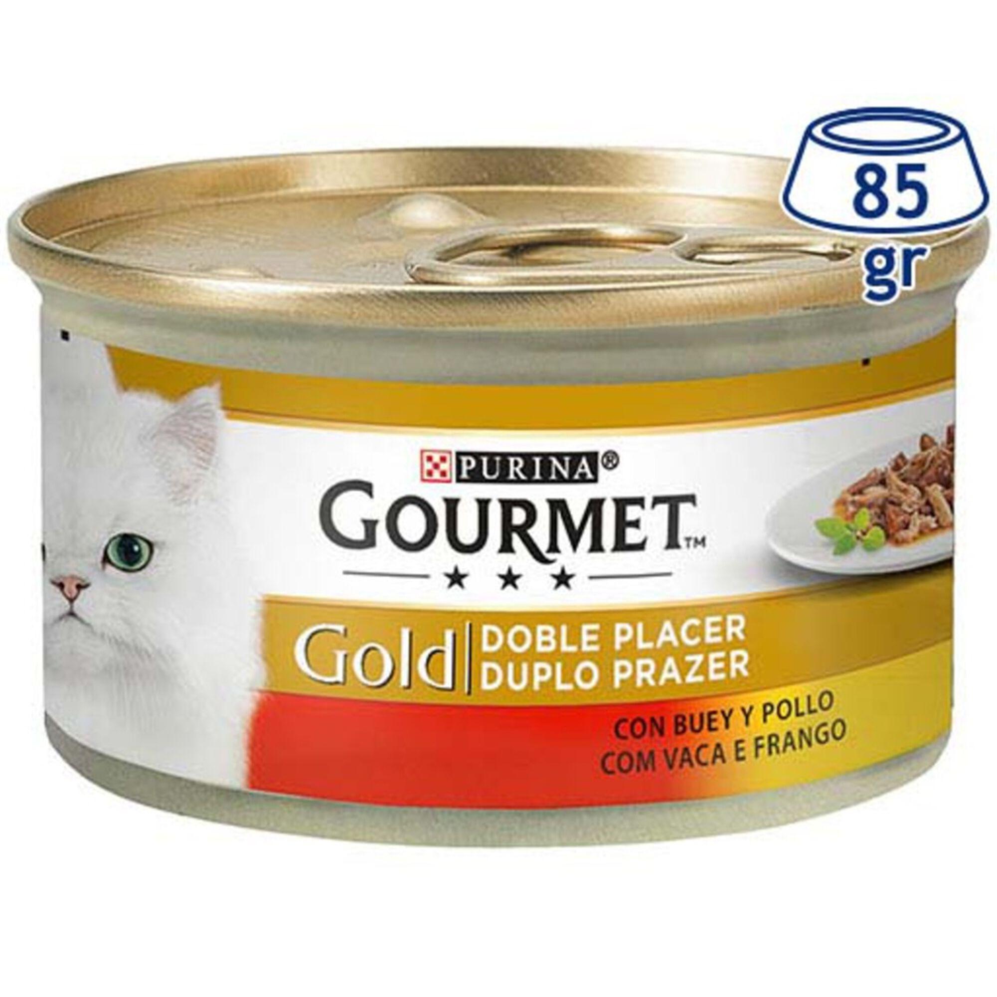 Comida Húmida para Gato Gold Duplo Prazer Vaca Frango