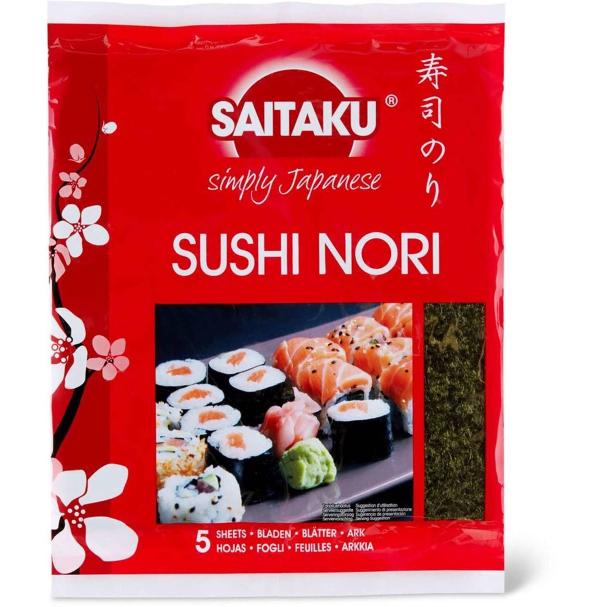 Folhas Algas Sushi Nori