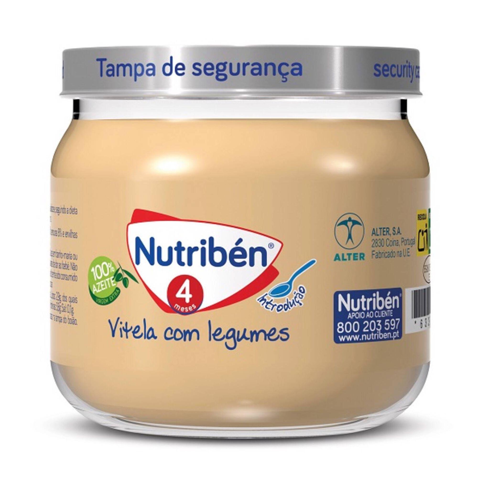 Refeição para Bebé Vitela com Legumes sem Glúten +4 Meses