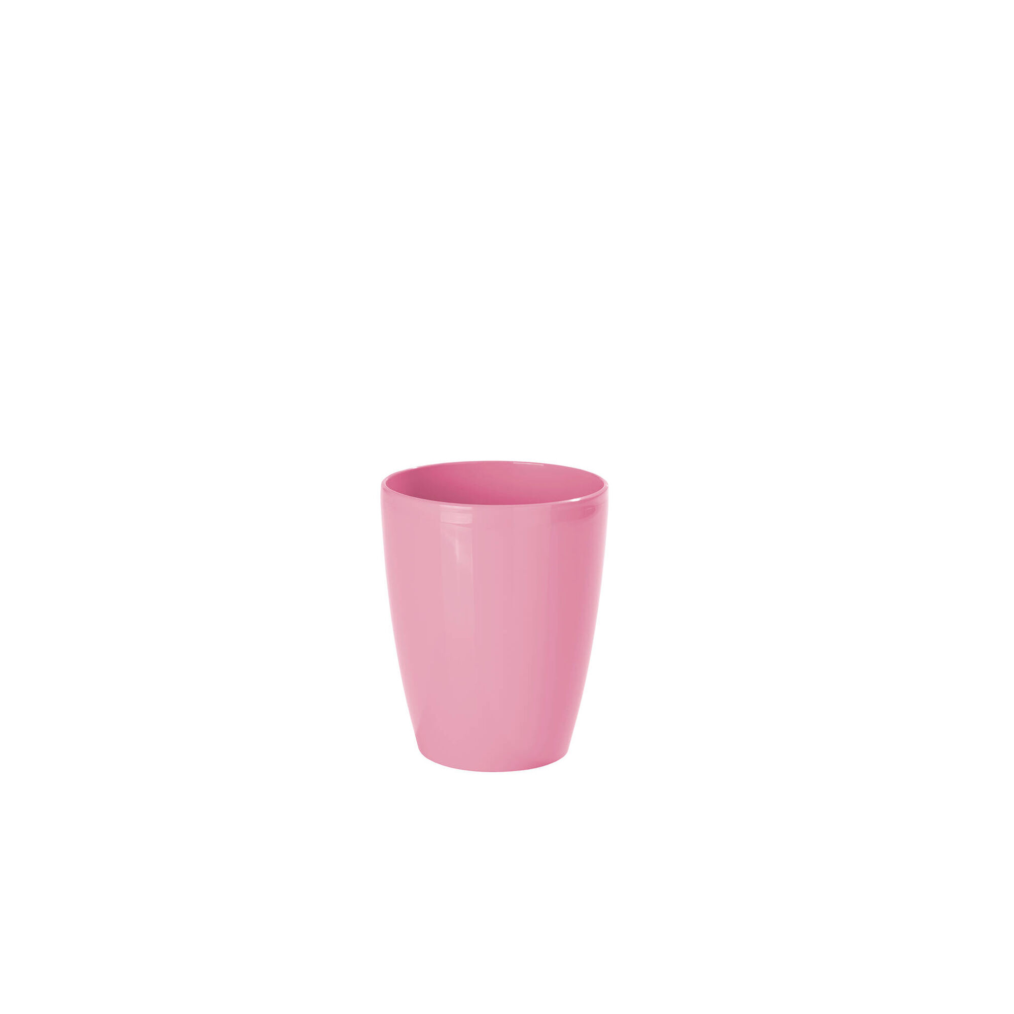 Vaso Redondo Plástico 13cm Rosa