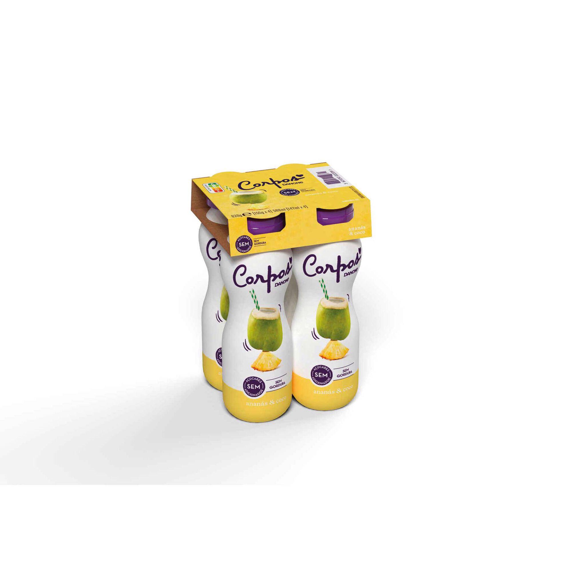Iogurte Líquido Magro Ananás e Coco