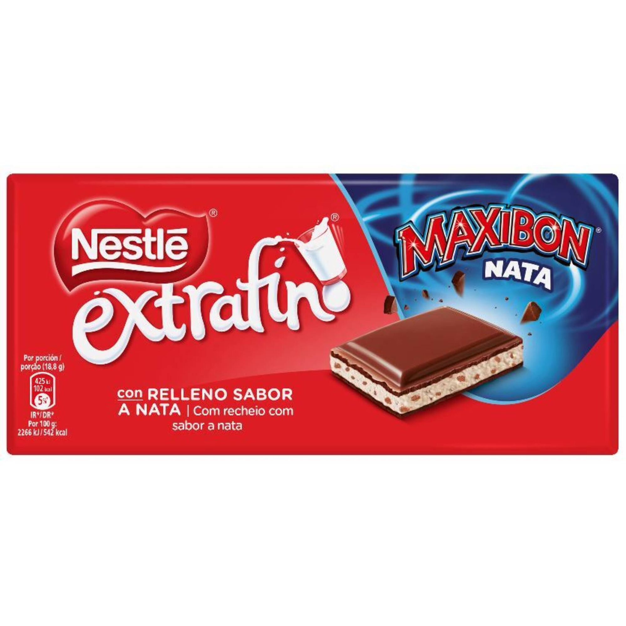 Tablete de Chocolate de Leite com Bolacha Maxibon Extrafino