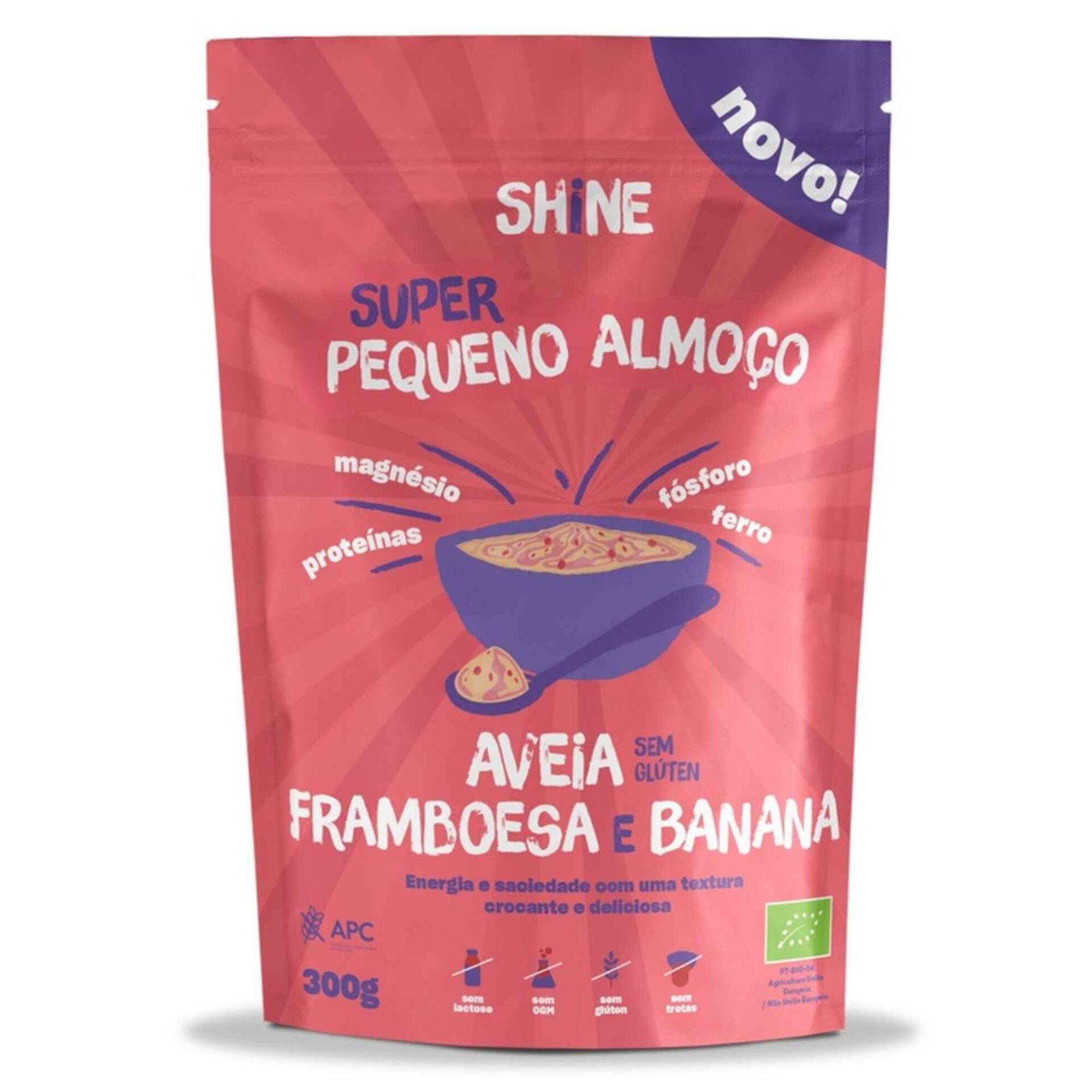 Pequeno Almoço Aveia, Framboesa e Banana sem Glúten Biológico