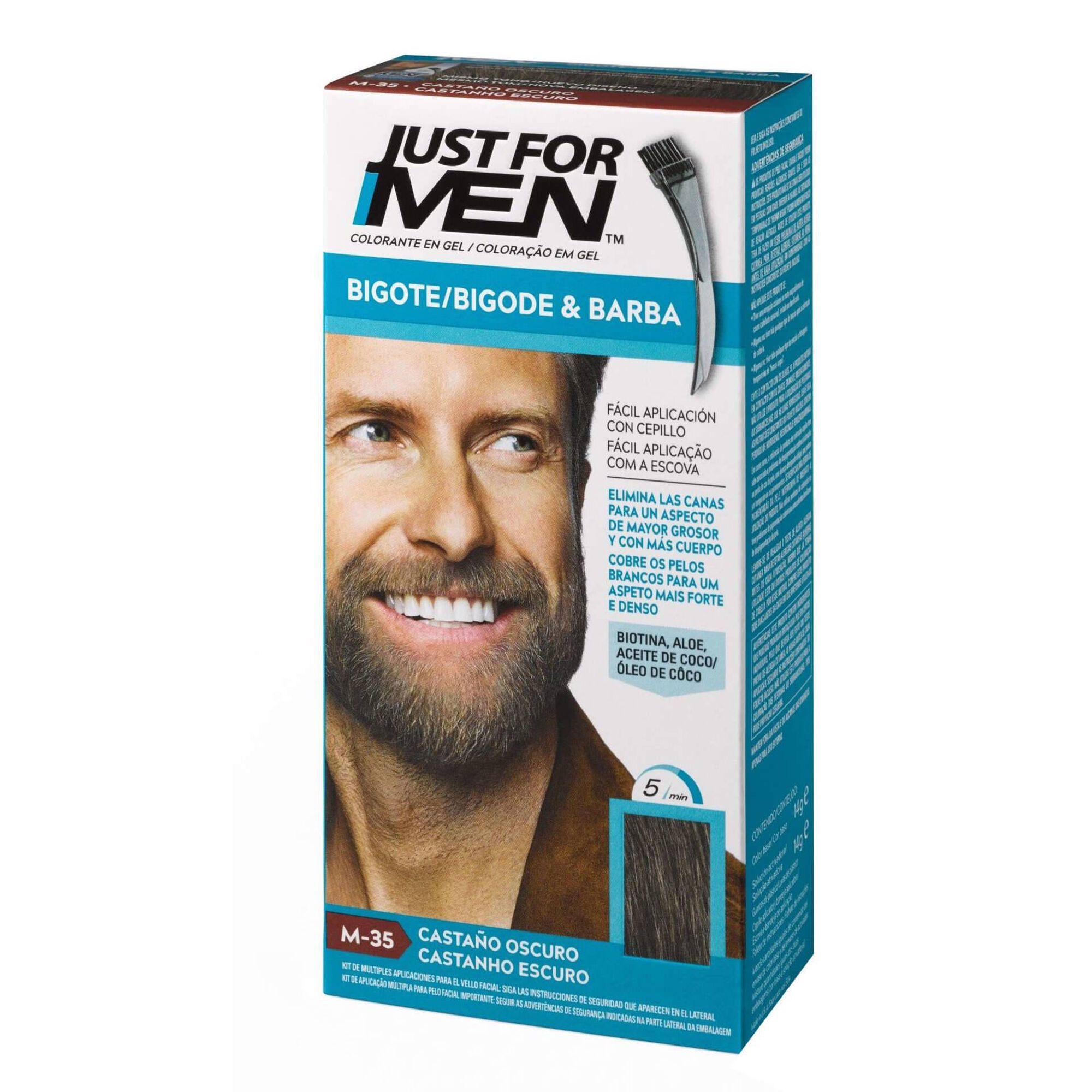 Coloração Homem Temporária para Barba Castanho Escuro