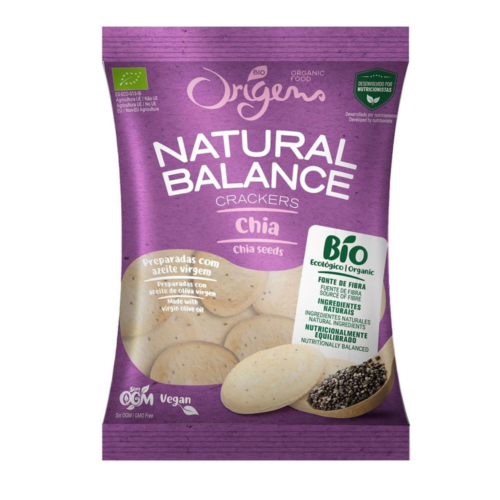 Bolachas Crackers com Chia Natural Balance Biológicas