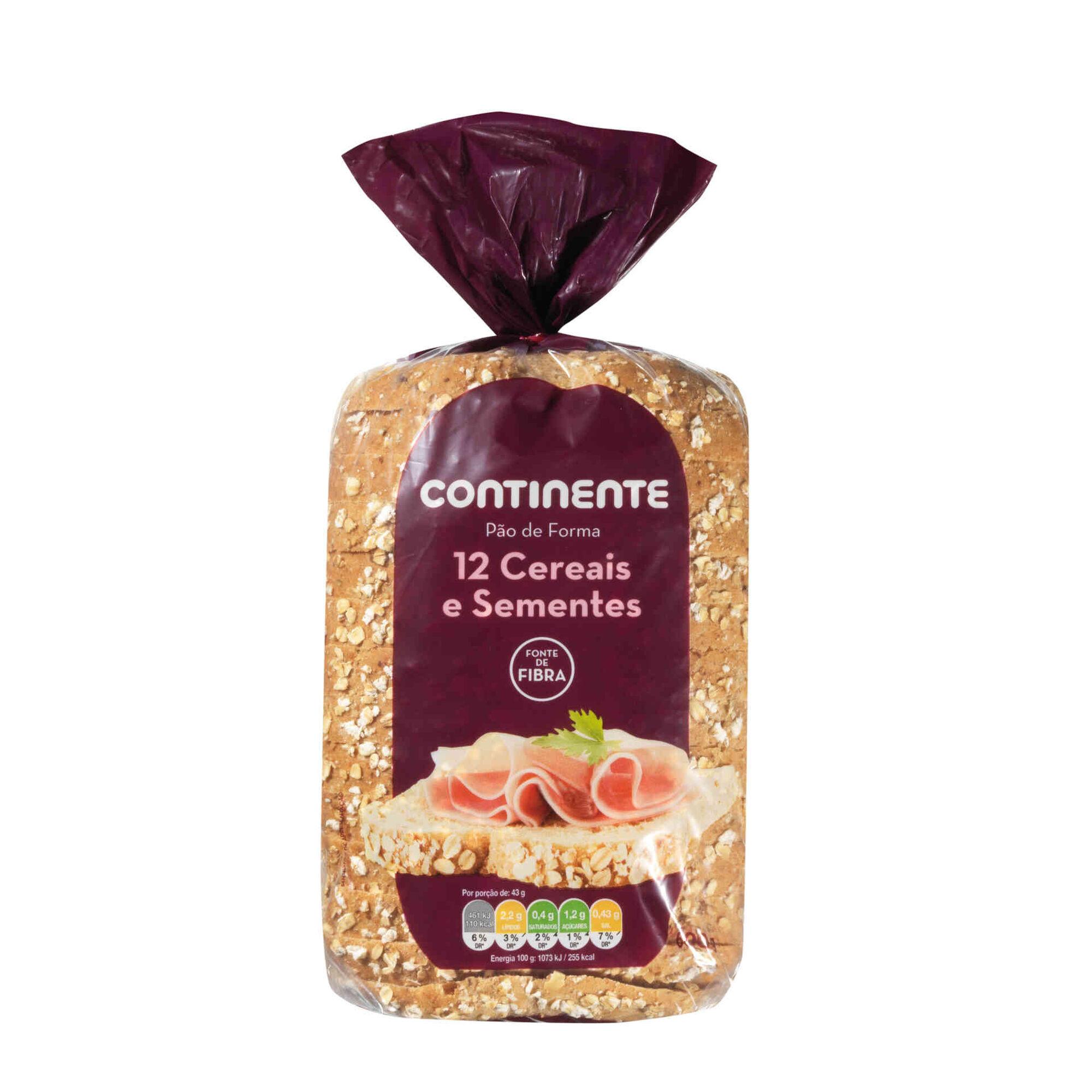 Pão de Forma 12 Cereais e Sementes