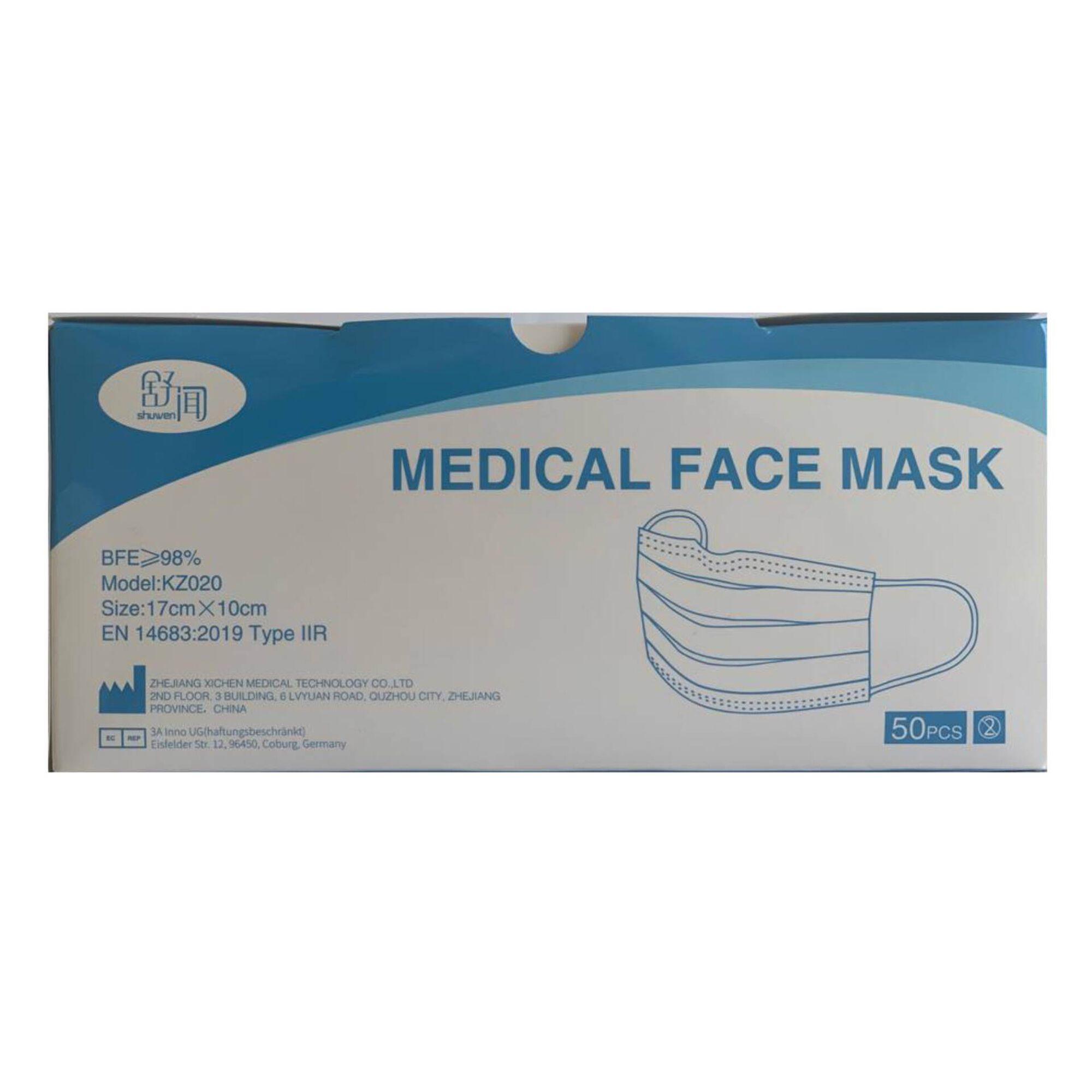 Máscaras Cirúrgicas Tipo IIR 98%