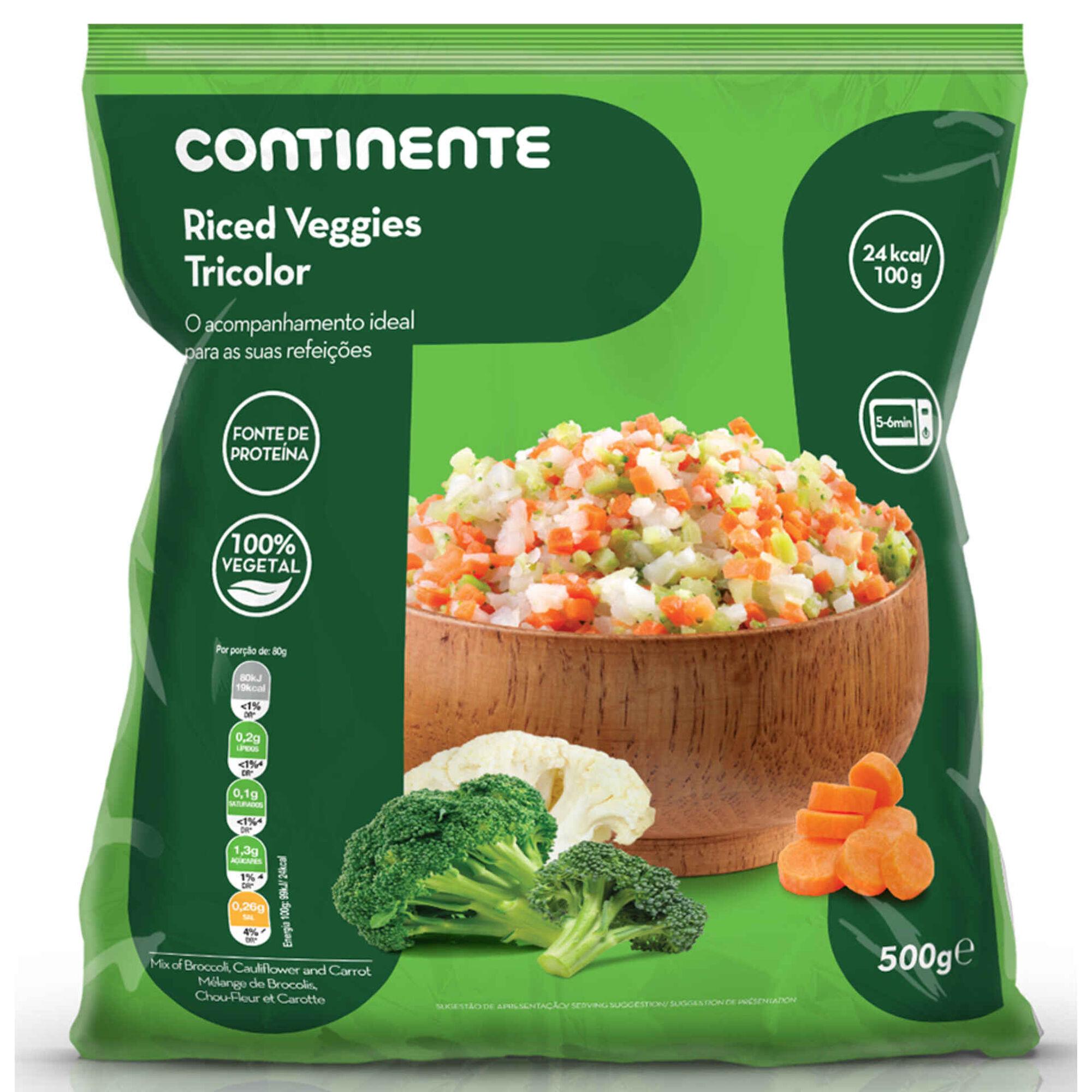 Riced Veggies Tricolor