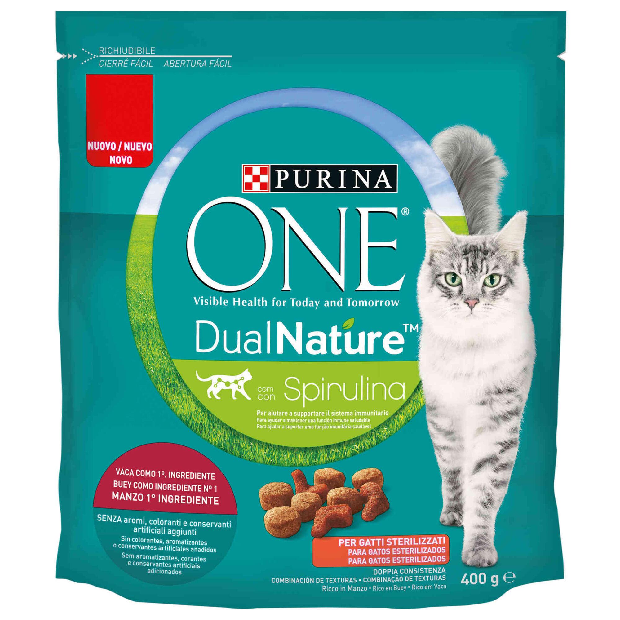 Ração para Gato Adulto Esterilizado Spirulina Vaca