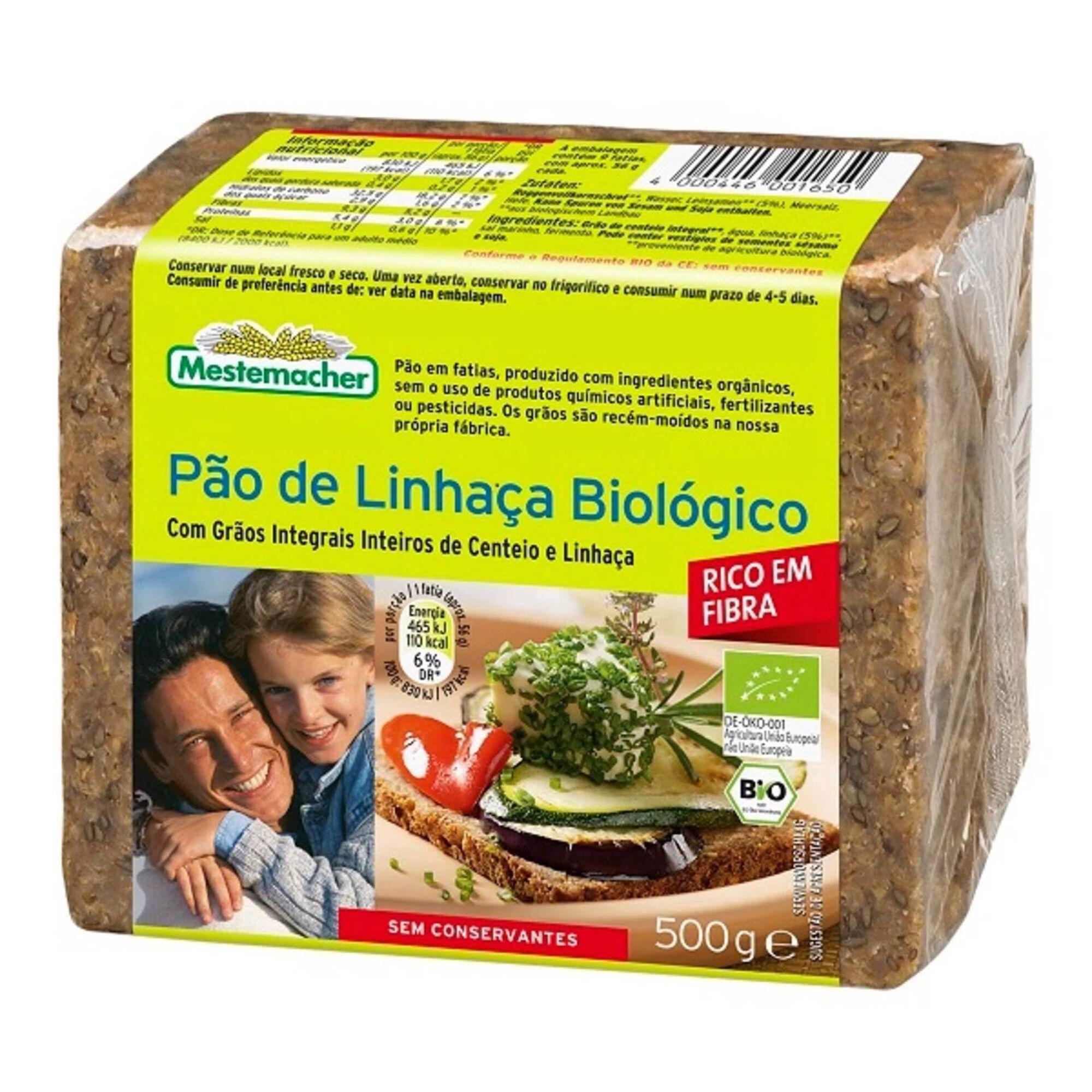 Pão de Sementes de Linhaça Biológico