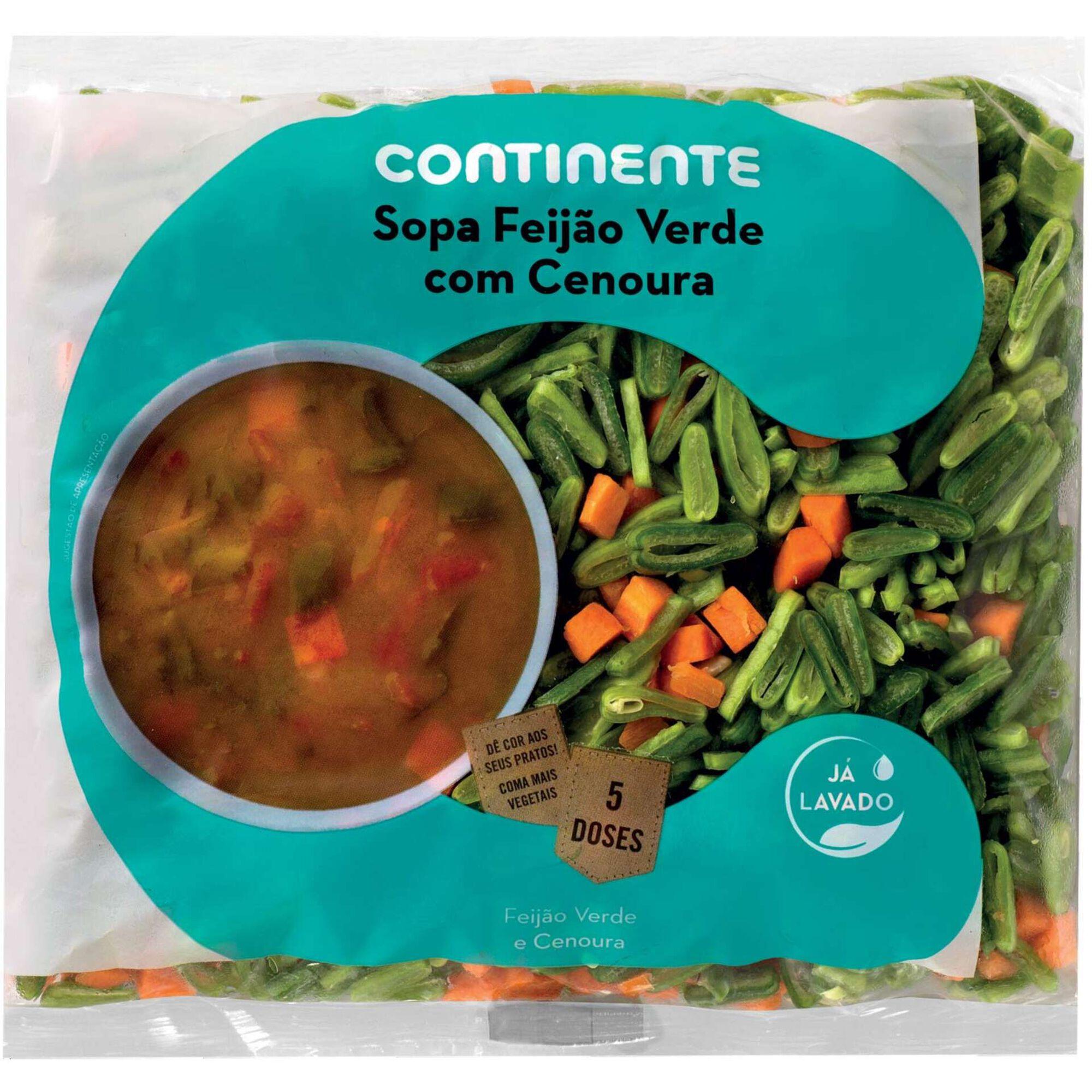 Sopa Feijão Verde com Cenoura