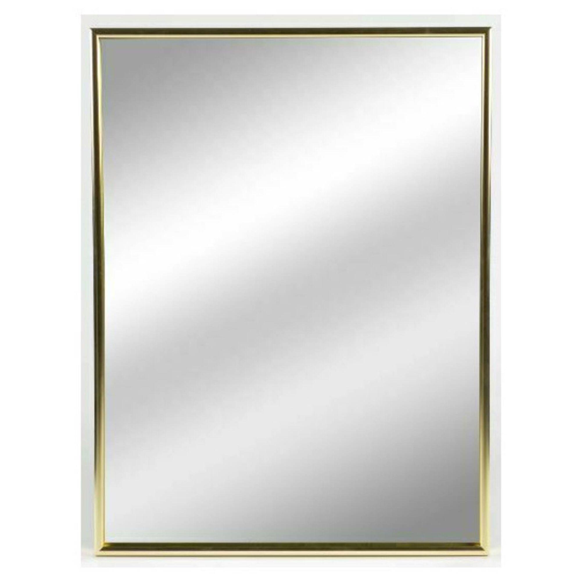 Espelho Quadrado Dourado Elegant