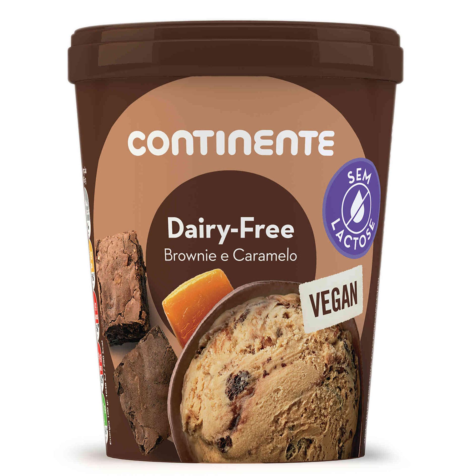 Gelado Caramel Brownie Dairy Free