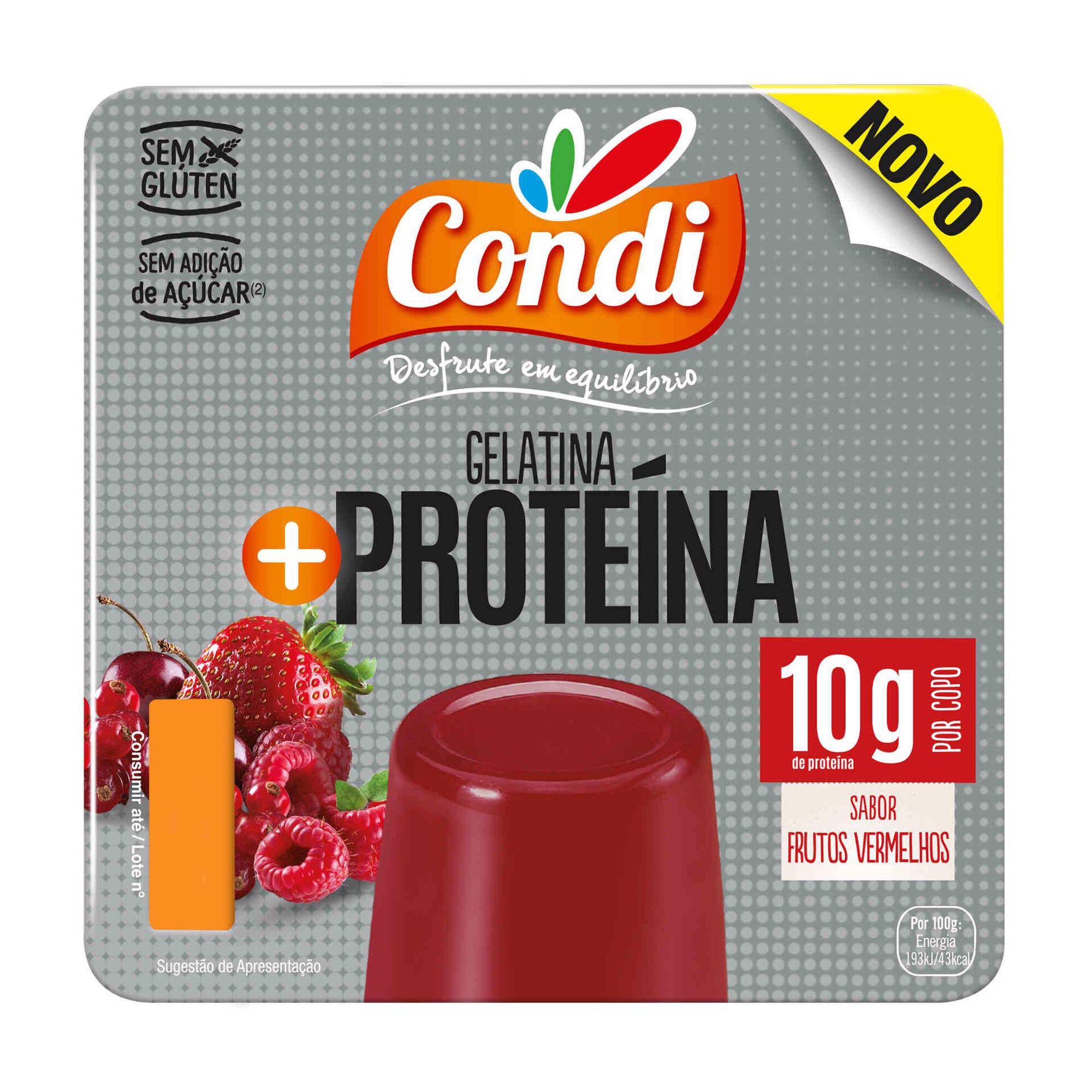 Gelatina Pronta + Proteína Frutos Vermelhos