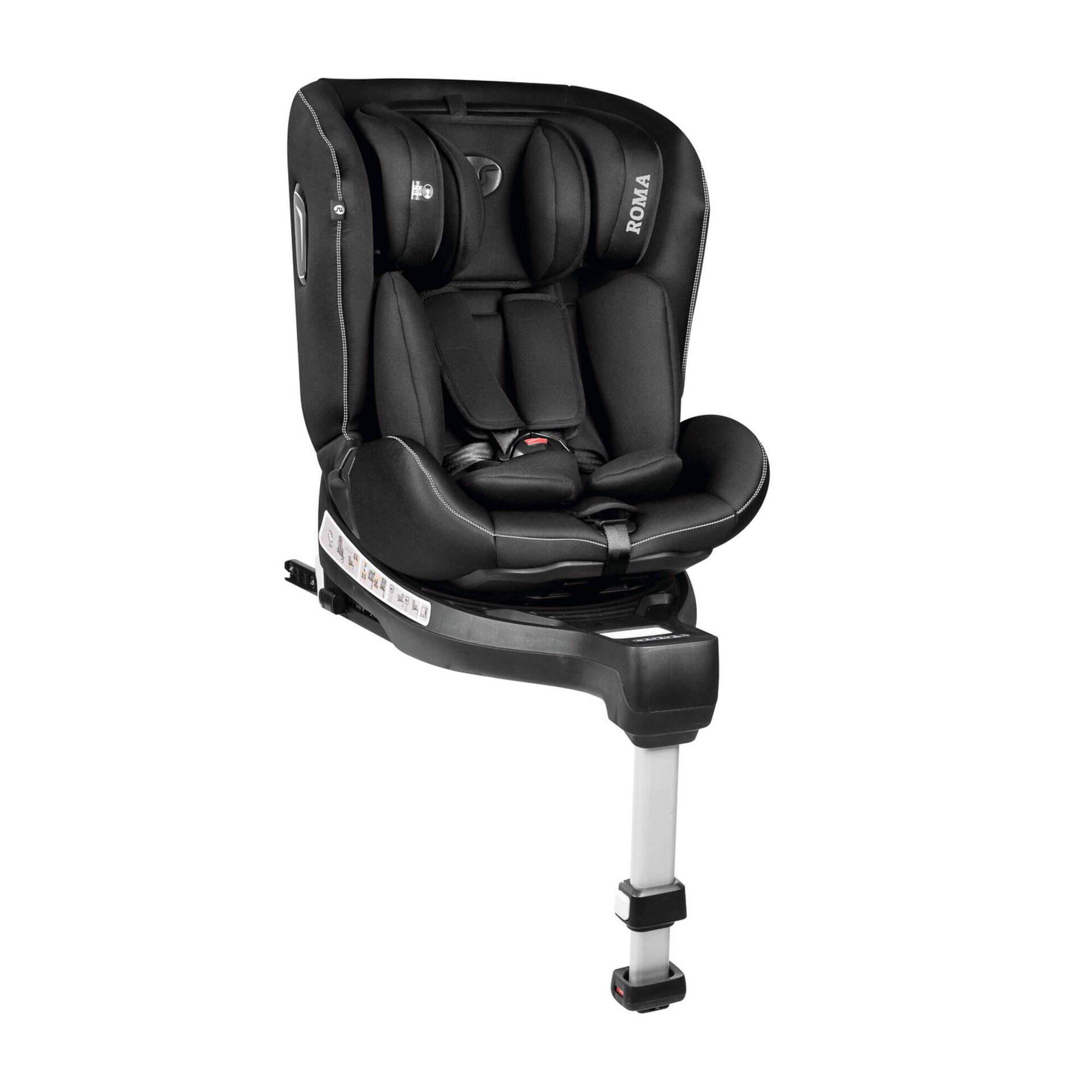 Cadeira Auto Grupo 0+/1/2/3 Isofix Rotativa 360° Cinza Roma